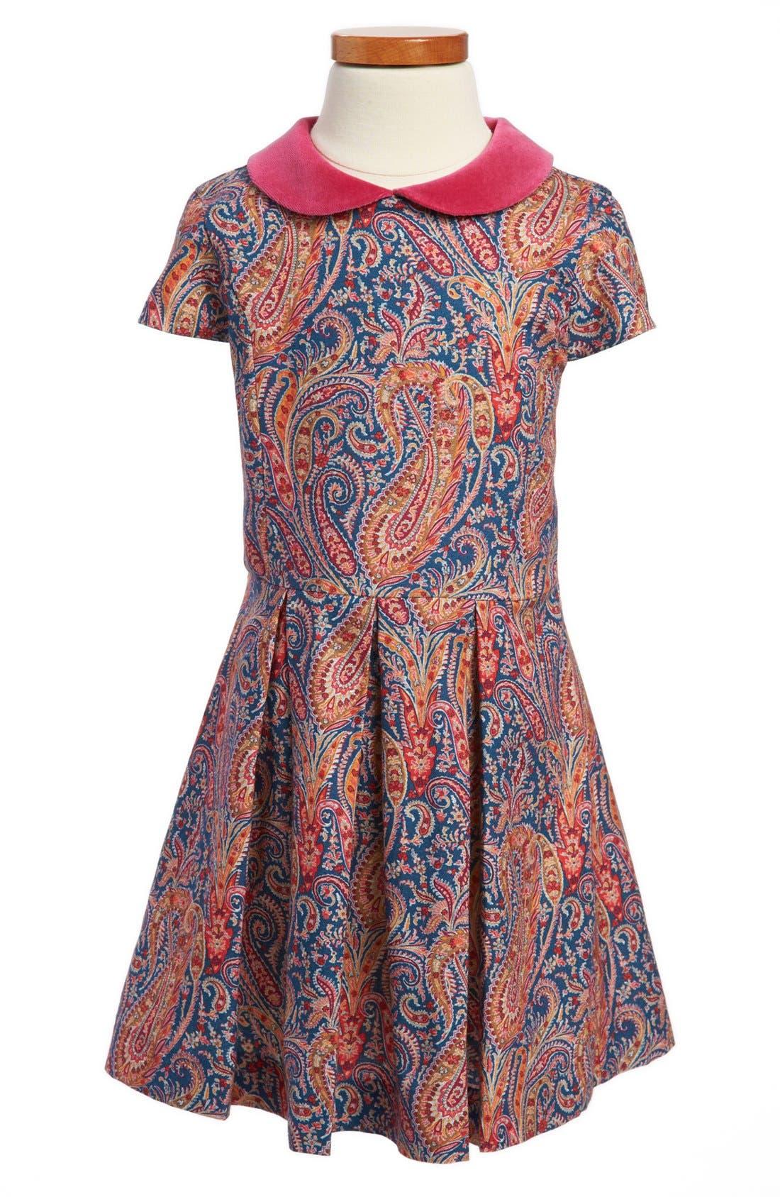Main Image - Oscar de la Renta Cap Sleeve Party Dress (Toddler Girls, Little Girls & Big Girls)