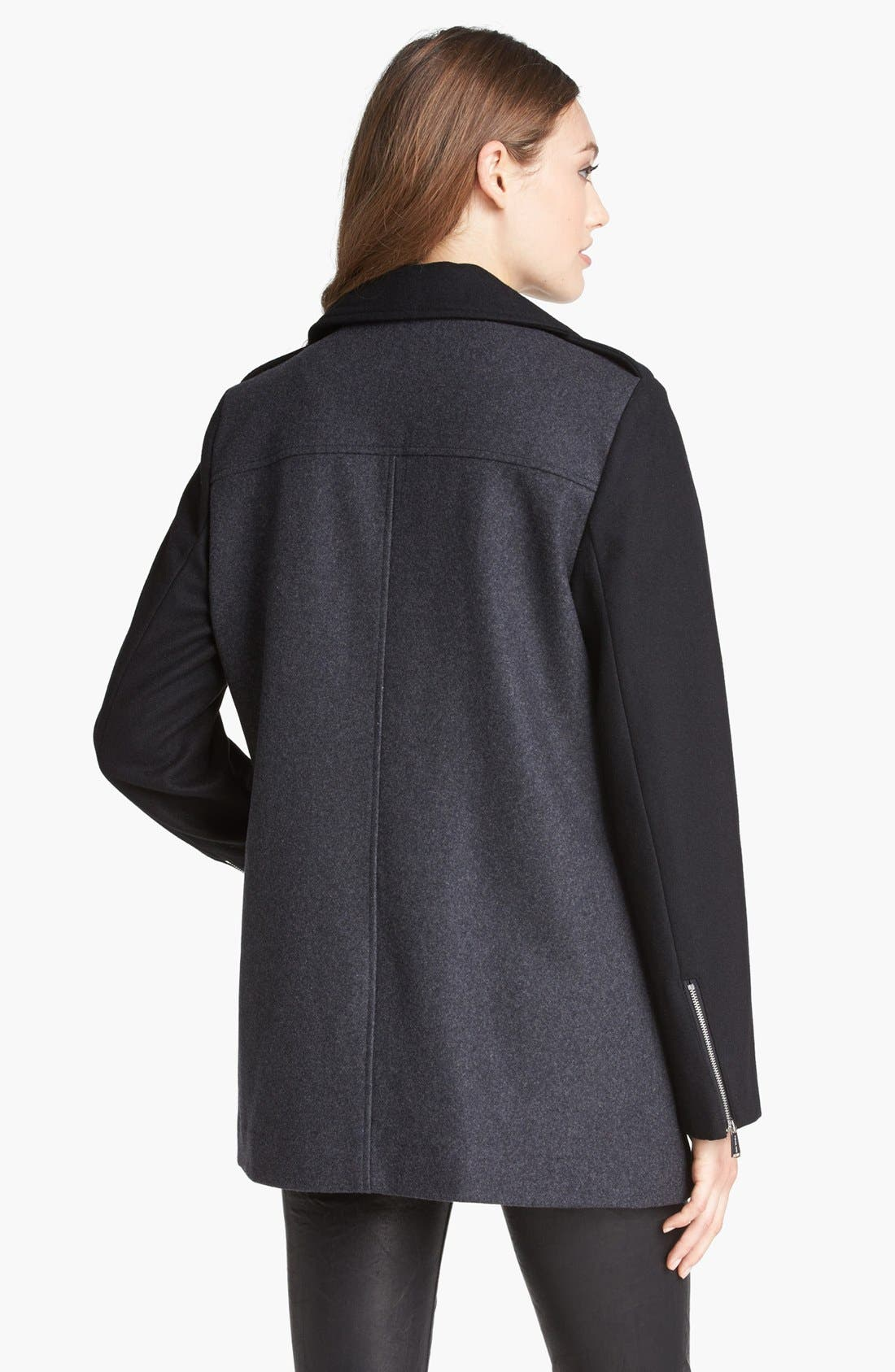 Alternate Image 2  - MICHAEL Michael Kors Two-Tone Asymmetrical Zip Jacket