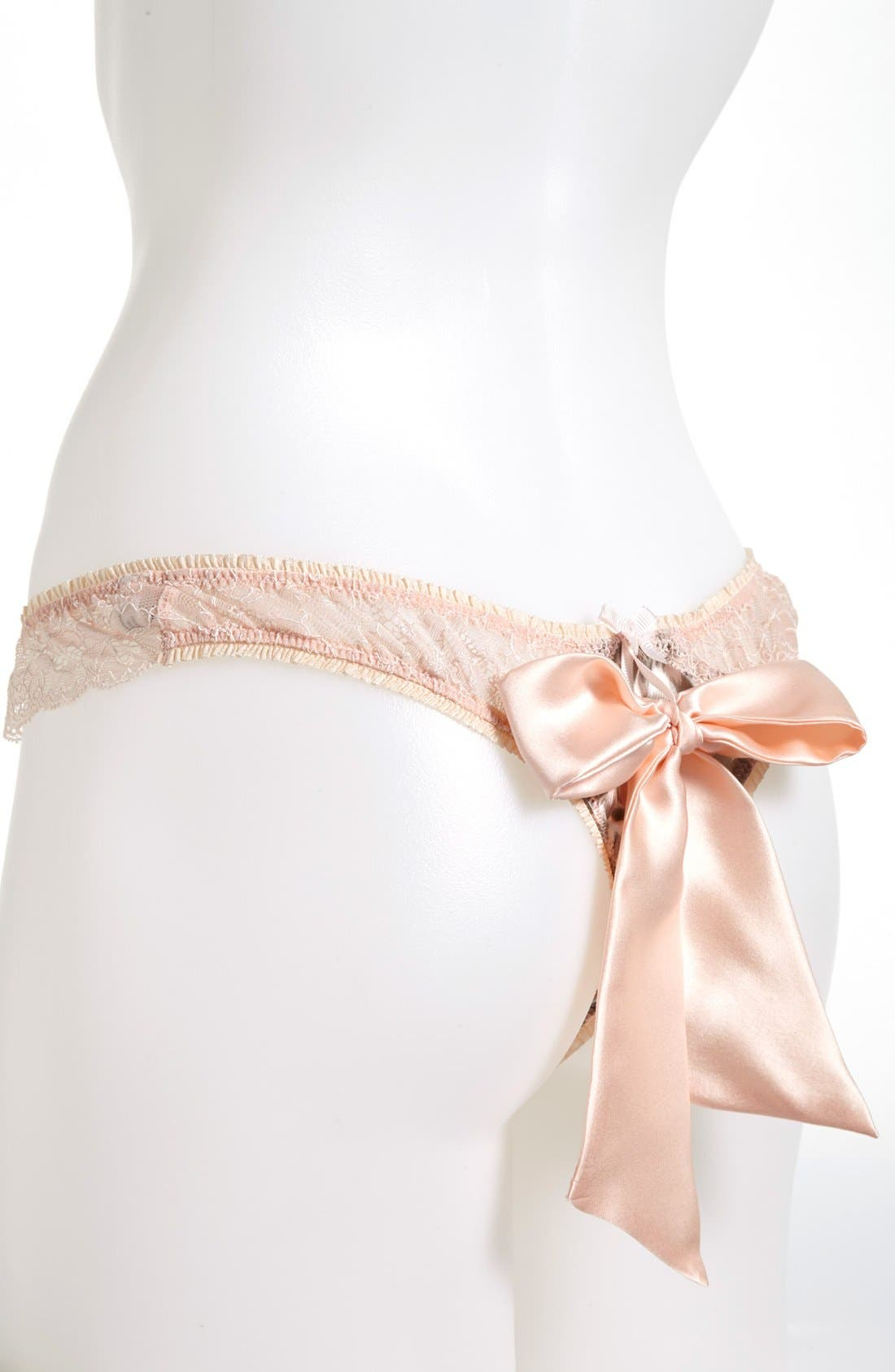 Alternate Image 2  - Mimi Holliday 'Frost Leopard' Bow Back Thong