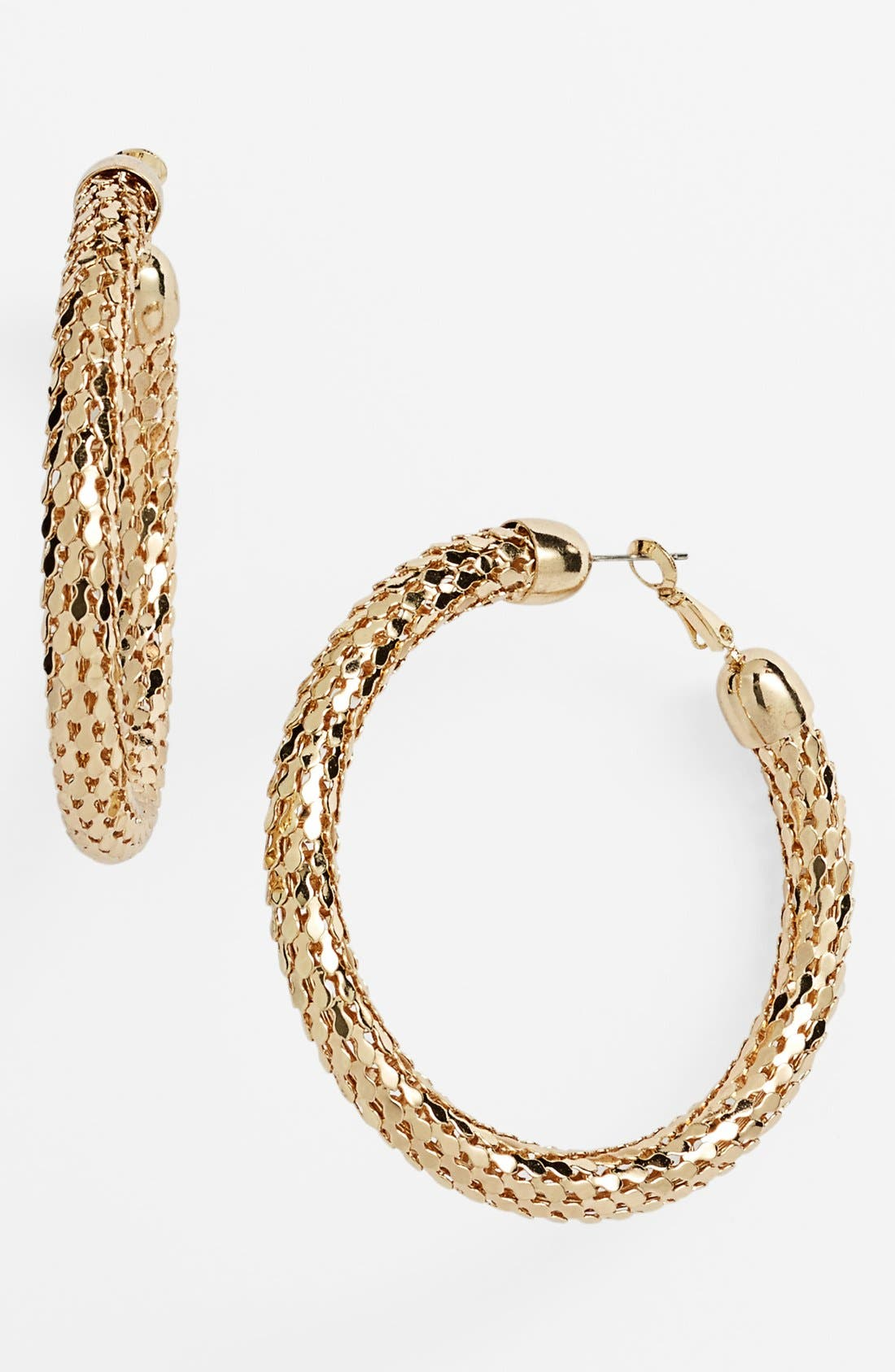 Alternate Image 1 Selected - Sequin Large Disco Hoop Earrings