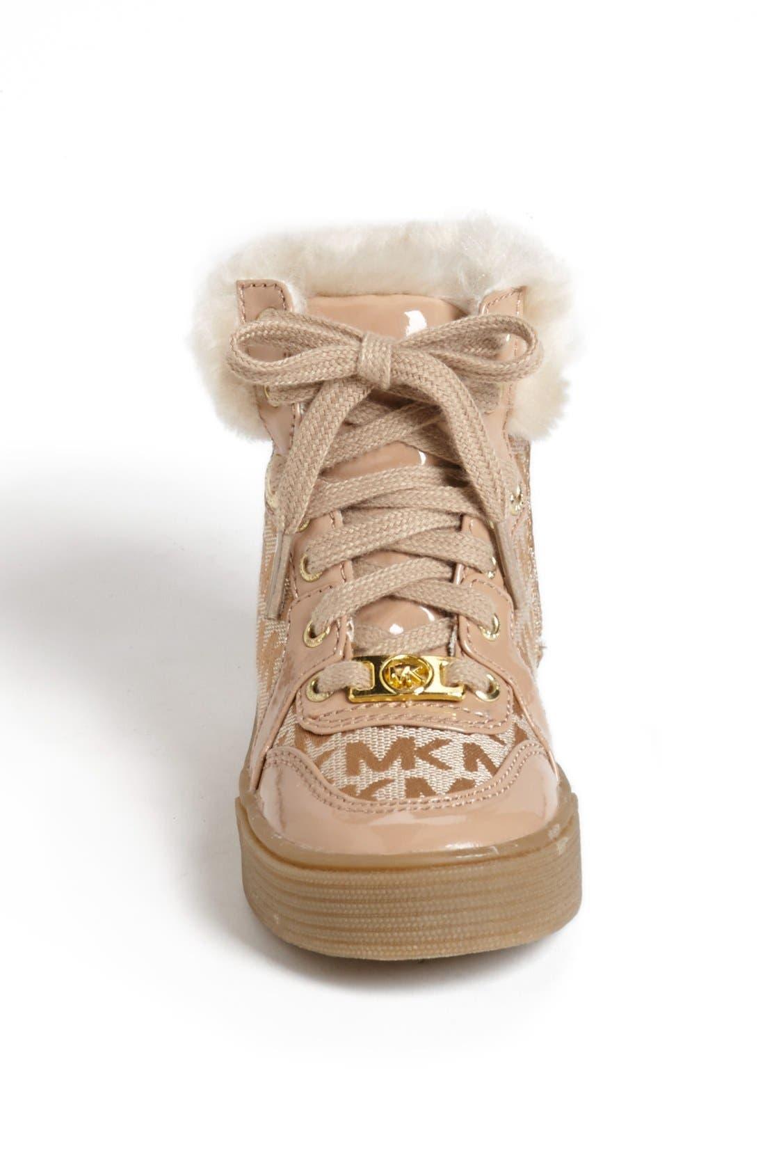 Alternate Image 3  - MICHAEL Michael Kors 'Ivy' Faux Fur High Top Sneaker (Little Kid)