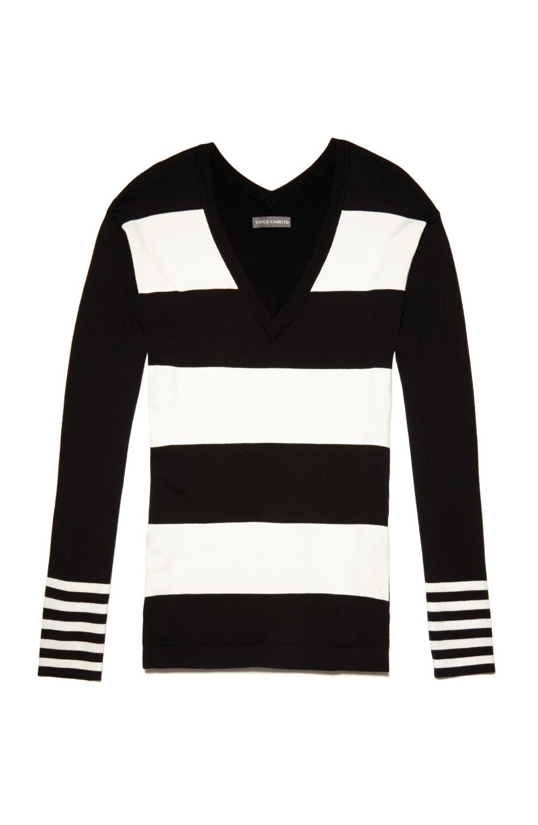 Alternate Image 4  - Vince Camuto Variegated Stripe Tunic Sweater