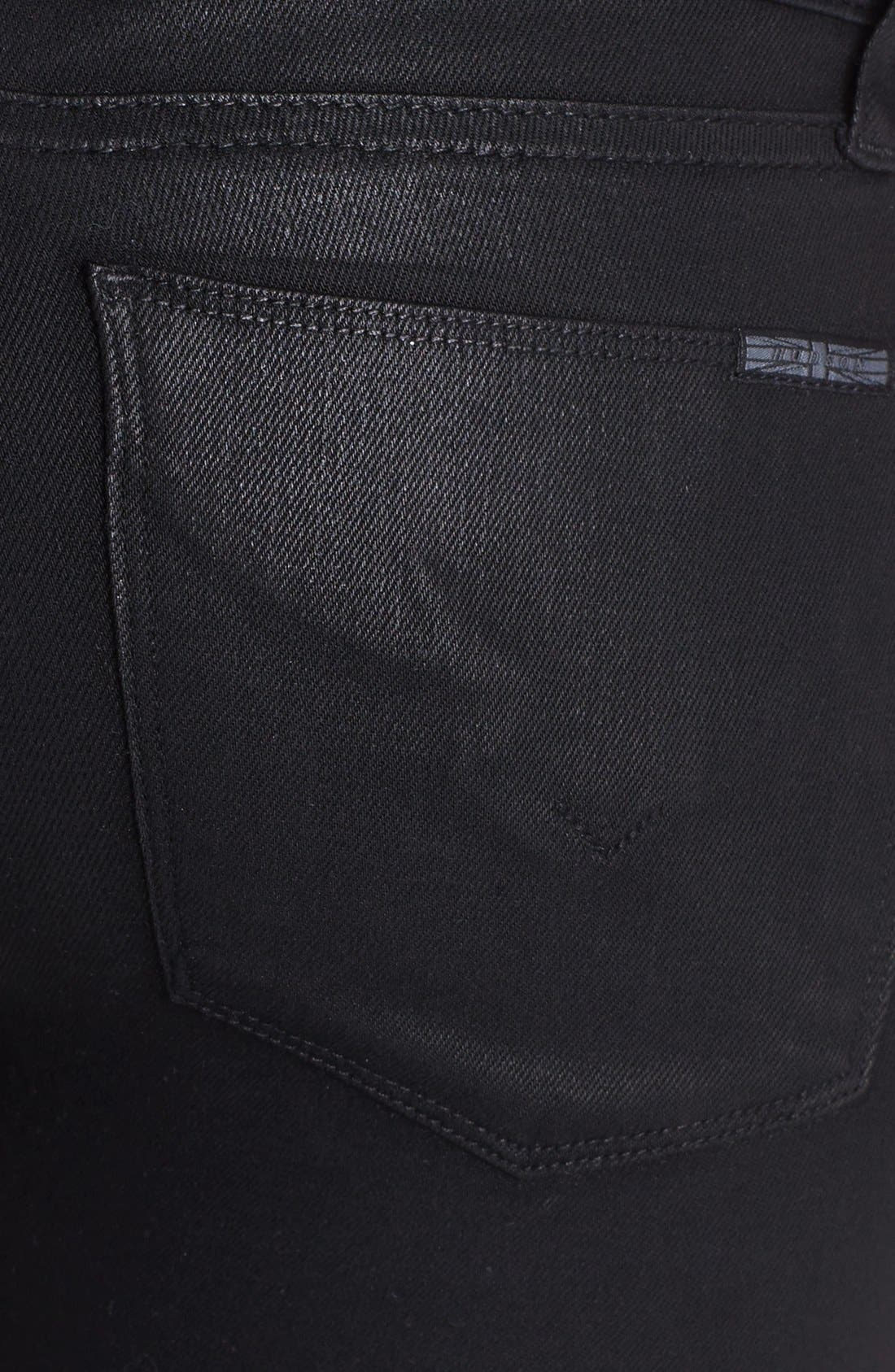 Alternate Image 3  - Hudson Jeans 'Stark' Moto Skinny Jeans (Jet Black)