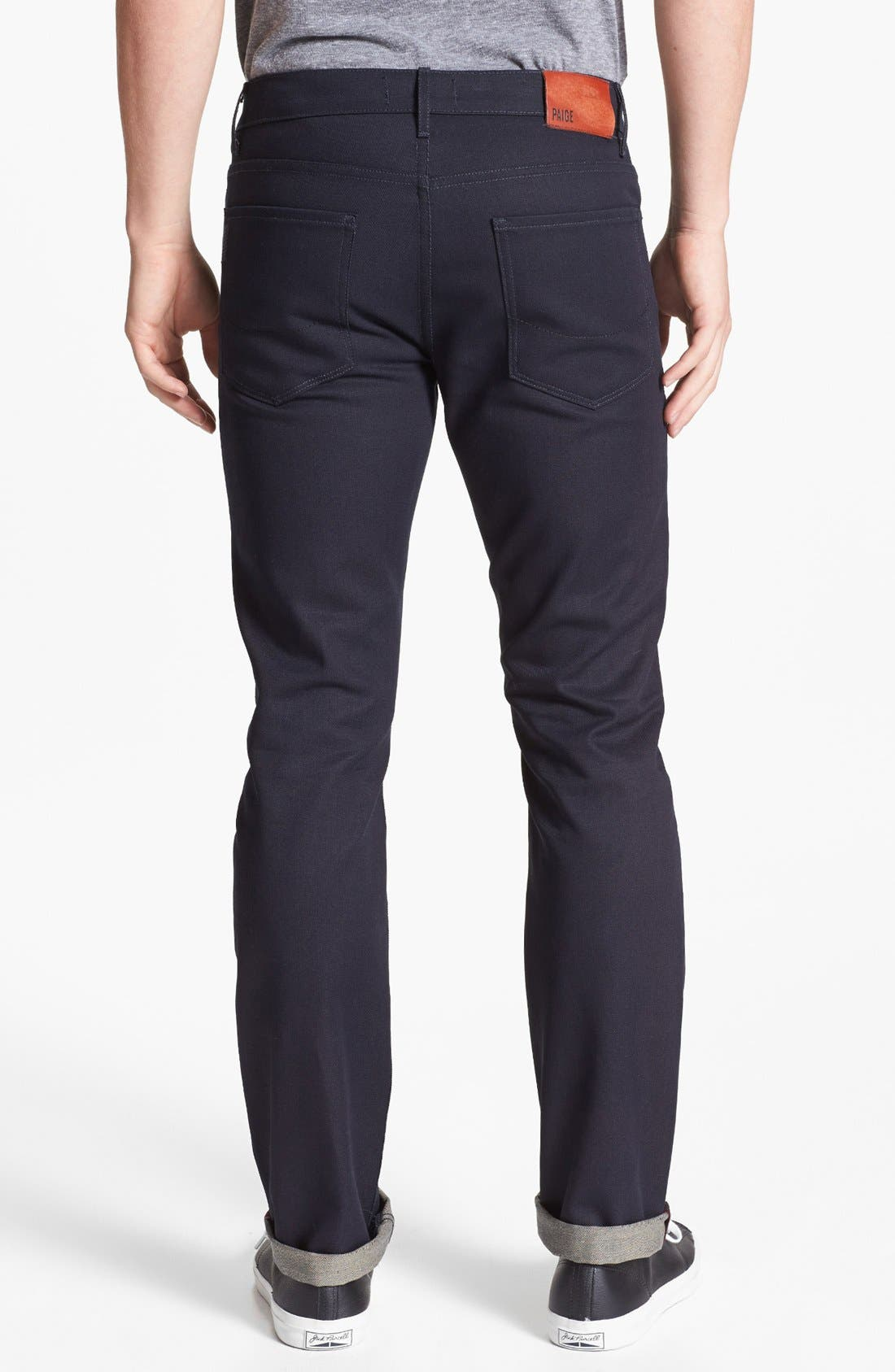 Alternate Image 1 Selected - PAIGE 'Federal' Skinny Fit Selvedge Jeans (Eco Raw)