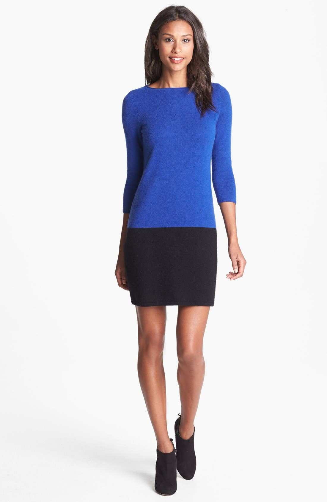 Main Image - Only Mine Colorblock Sweater Dress