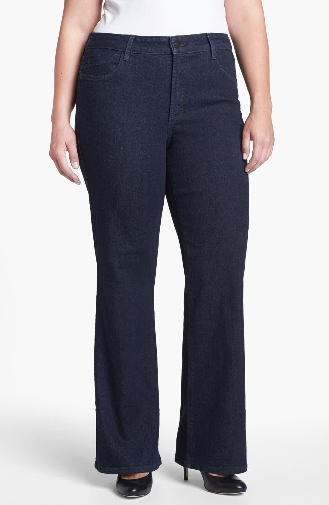 Alternate Image 1 Selected - NYDJ 'Sarah' Stretch Bootcut Jeans (Dark Enzyme) (Plus Size)