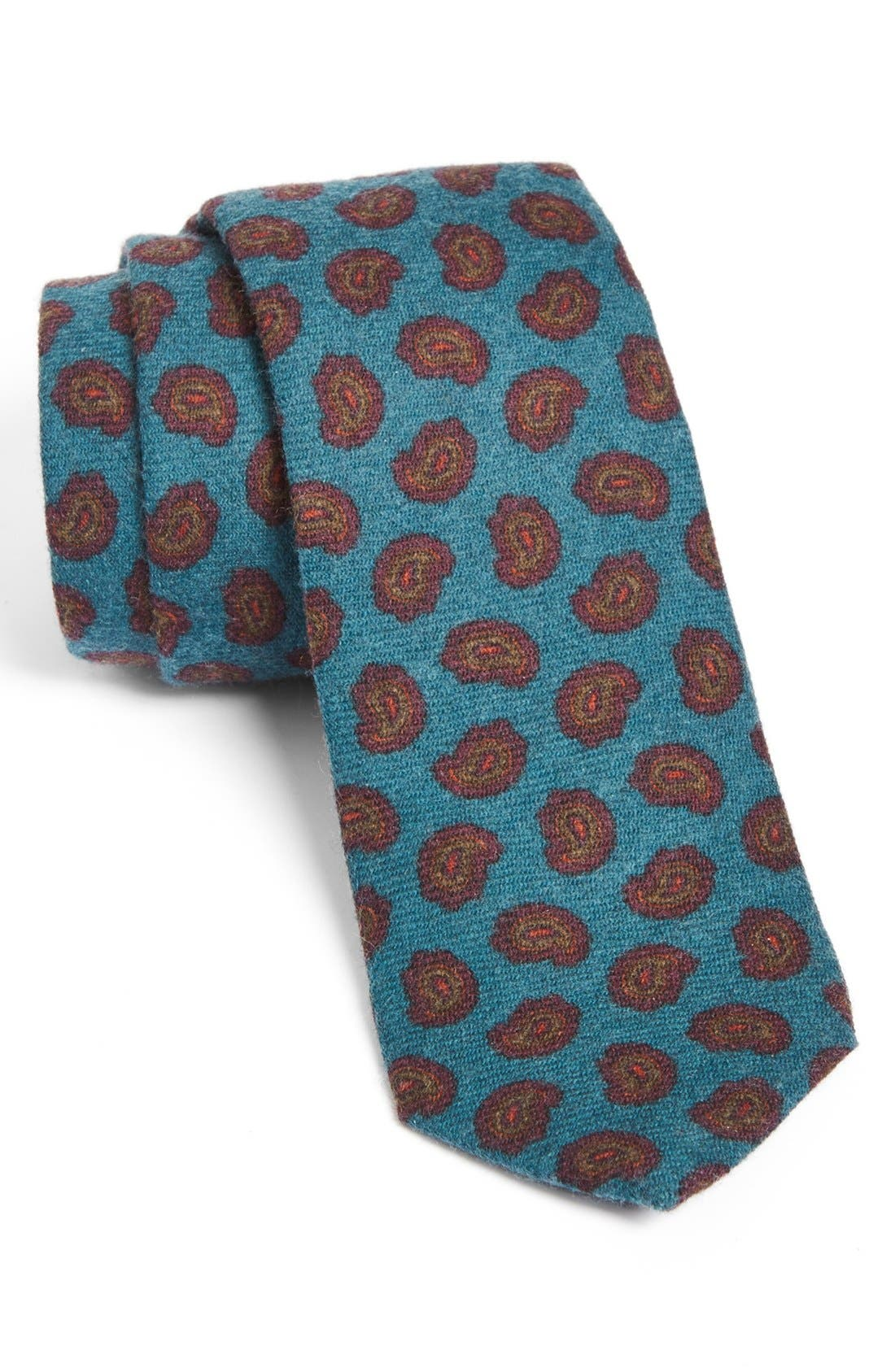 Main Image - Gitman Paisley Woven Wool Tie