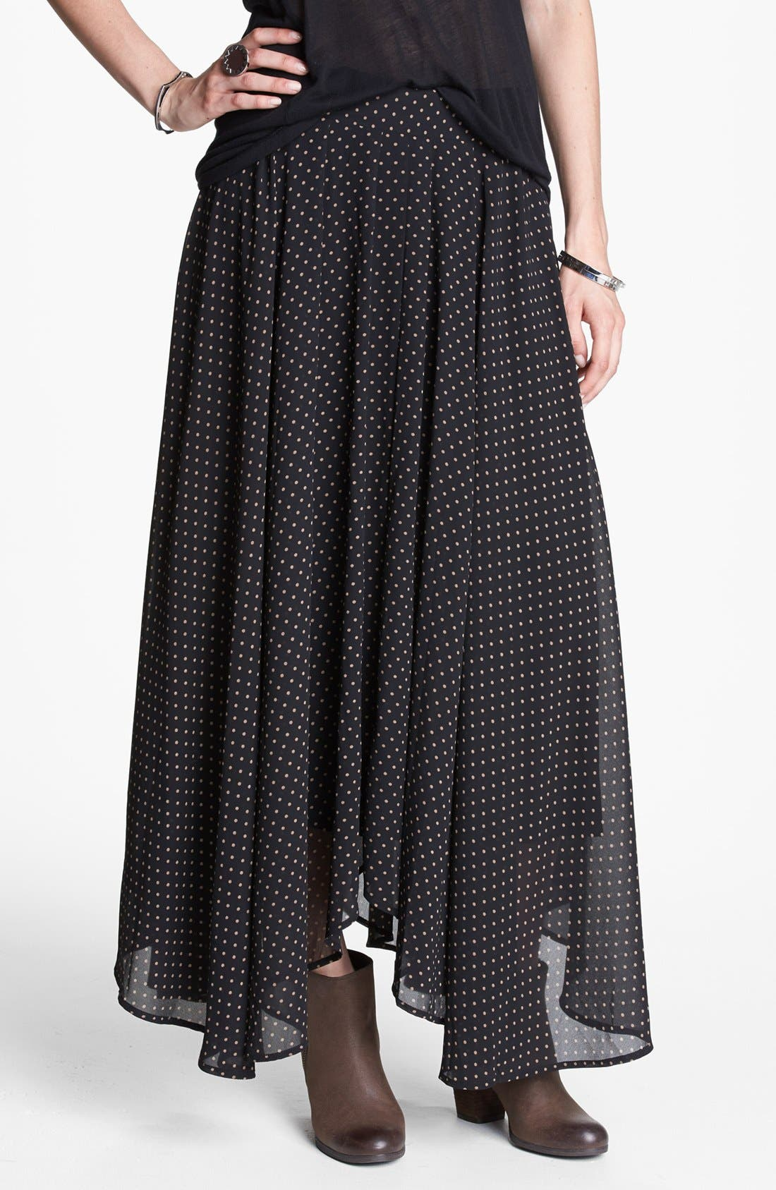 Alternate Image 1 Selected - Free People Polka Dot Maxi Skirt