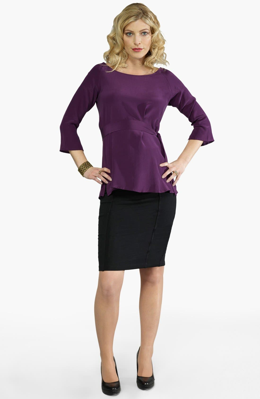 Alternate Image 5  - Eva Alexander London Tailored Ponte Knit Maternity Pencil Skirt