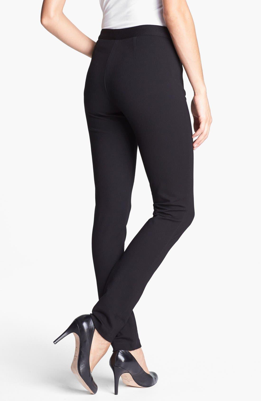 Alternate Image 2  - NYDJ 'Ski' Zip Pocket Ponte Knit Pants (Petite)