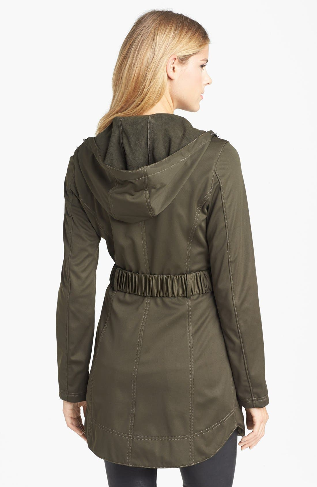 Alternate Image 2  - Laundry by Shelli Segal Hooded Soft Shell Jacket (Online Only)