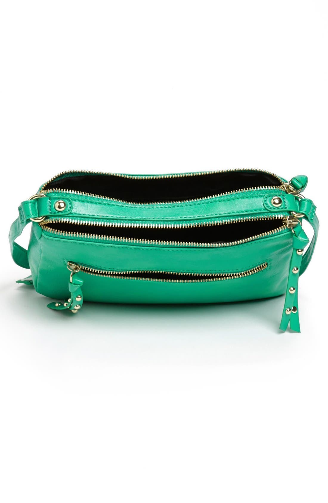 Alternate Image 3  - Collection B Faux Leather Crossbody Bag (Juniors)