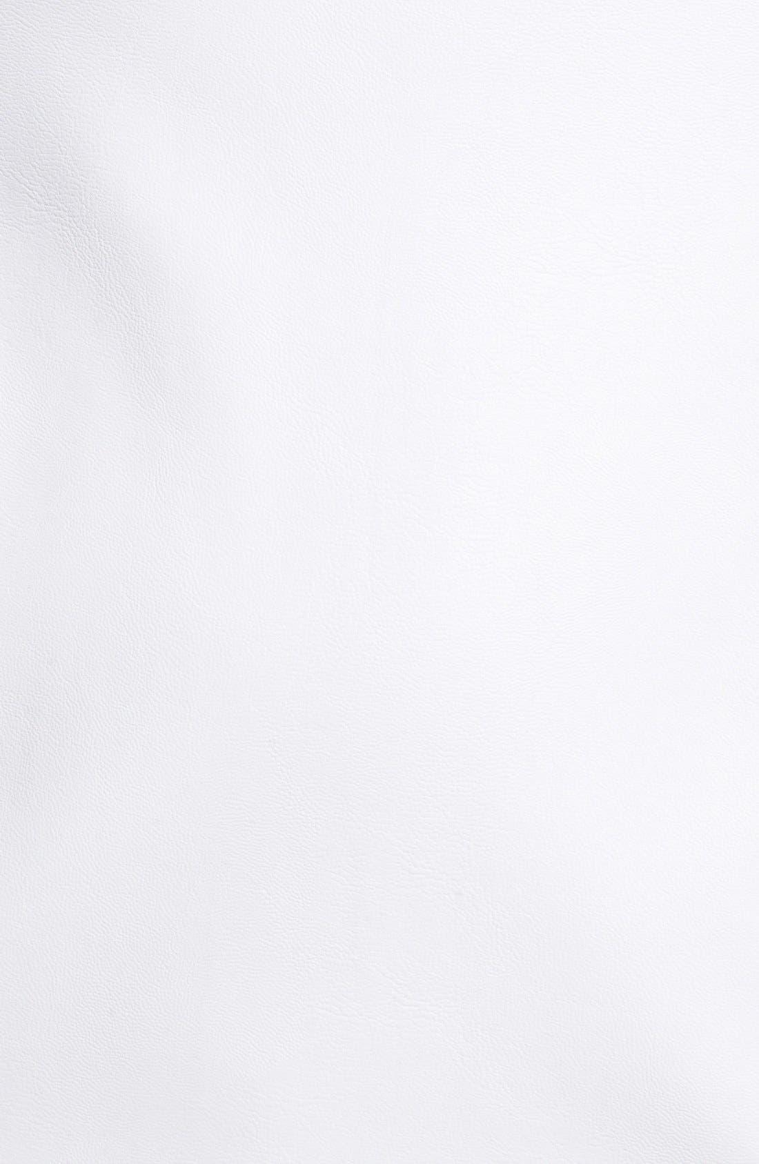 Alternate Image 3  - ASTR Cutout Faux Leather Dress