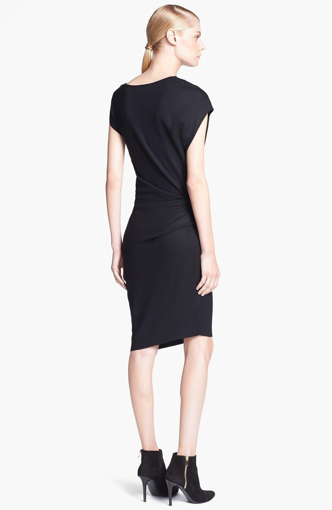 Alternate Image 2  - Helmut Lang 'Sonar Wool' Asymmetrical Sleeve Dress