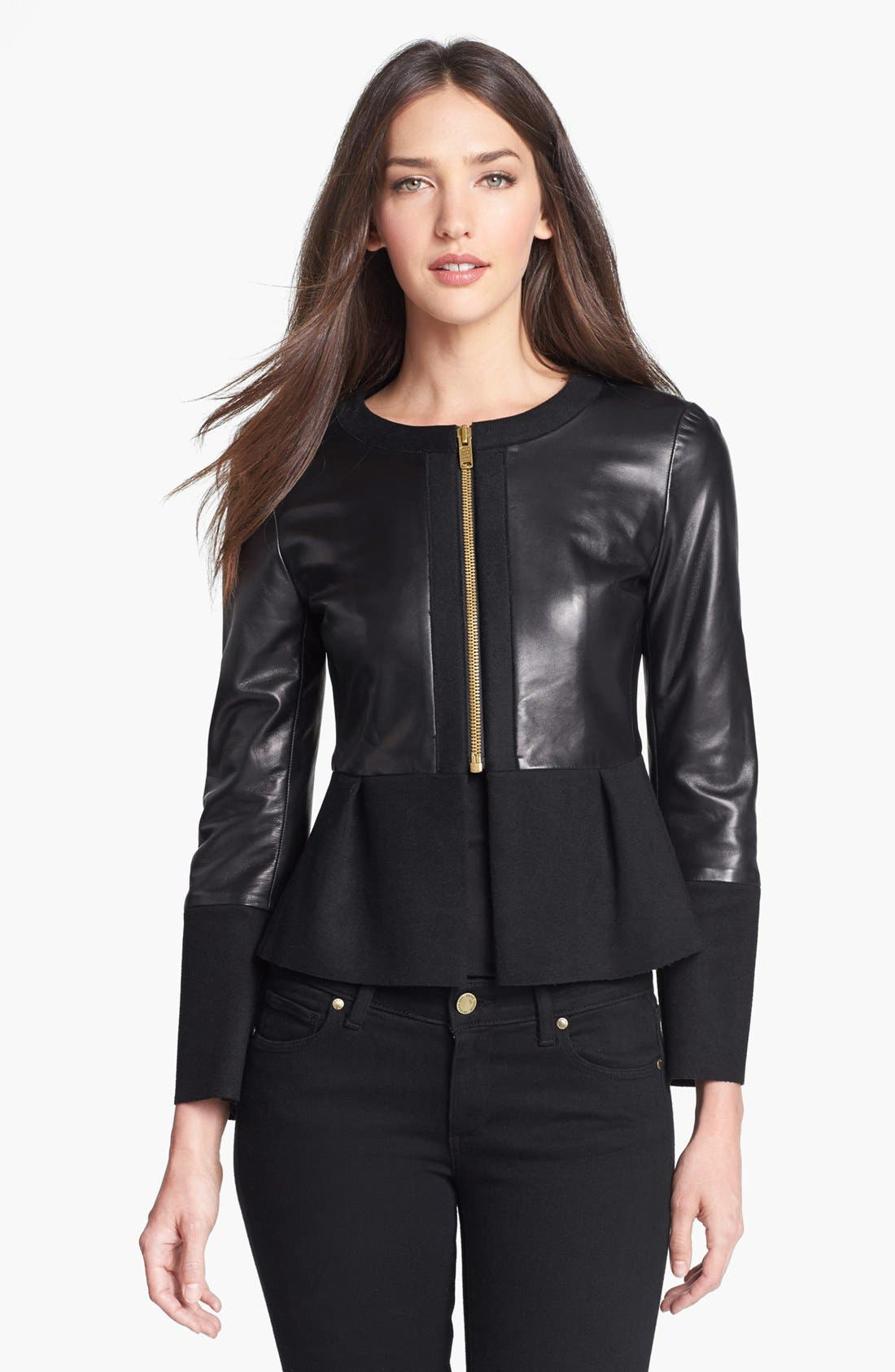 Alternate Image 1  - MARC BY MARC JACOBS 'Kent' Leather & Wool Blend Jacket