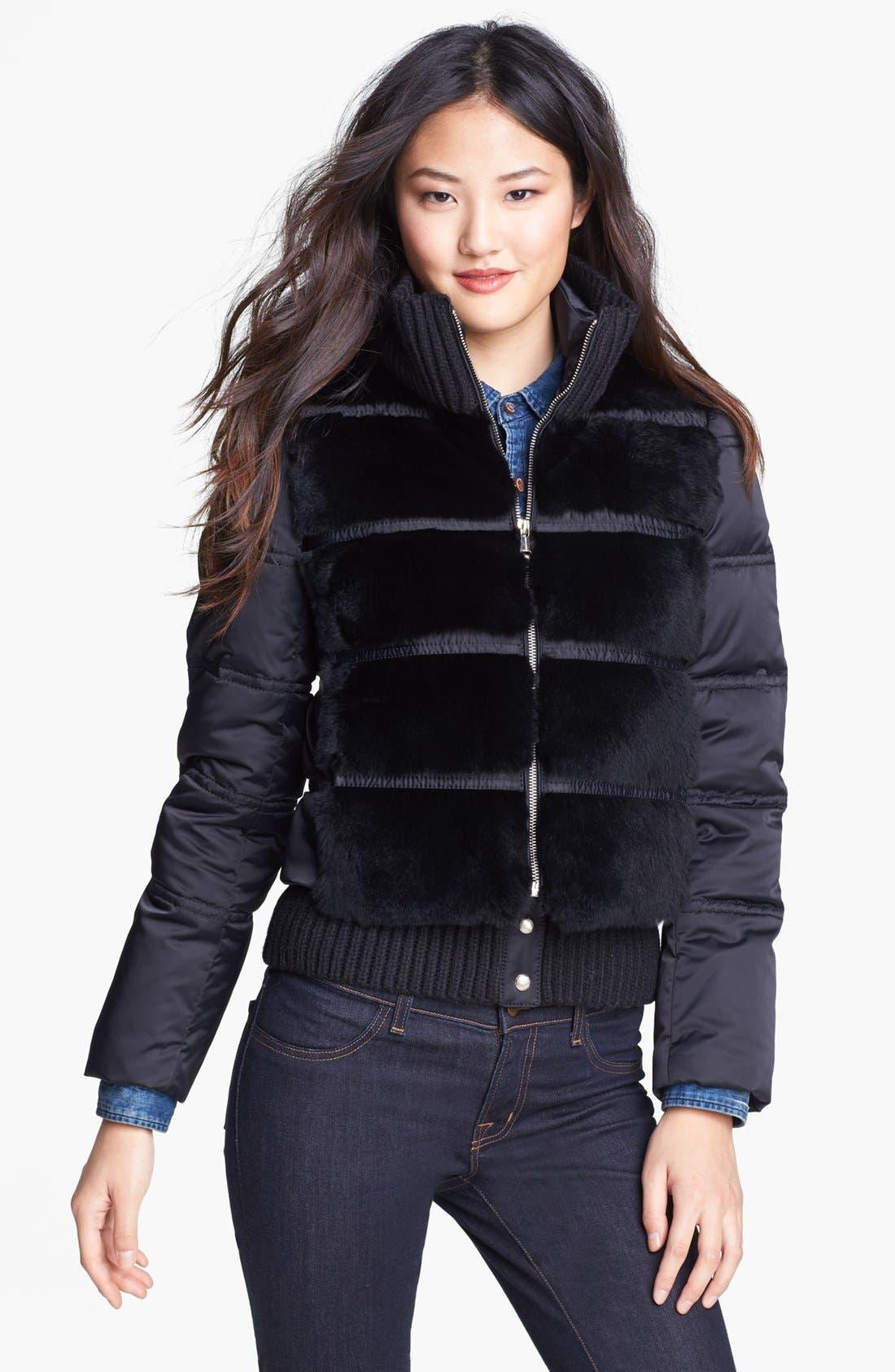 Alternate Image 1  - Andrew Marc 'Dana' Genuine Rabbit Fur Front Down Jacket