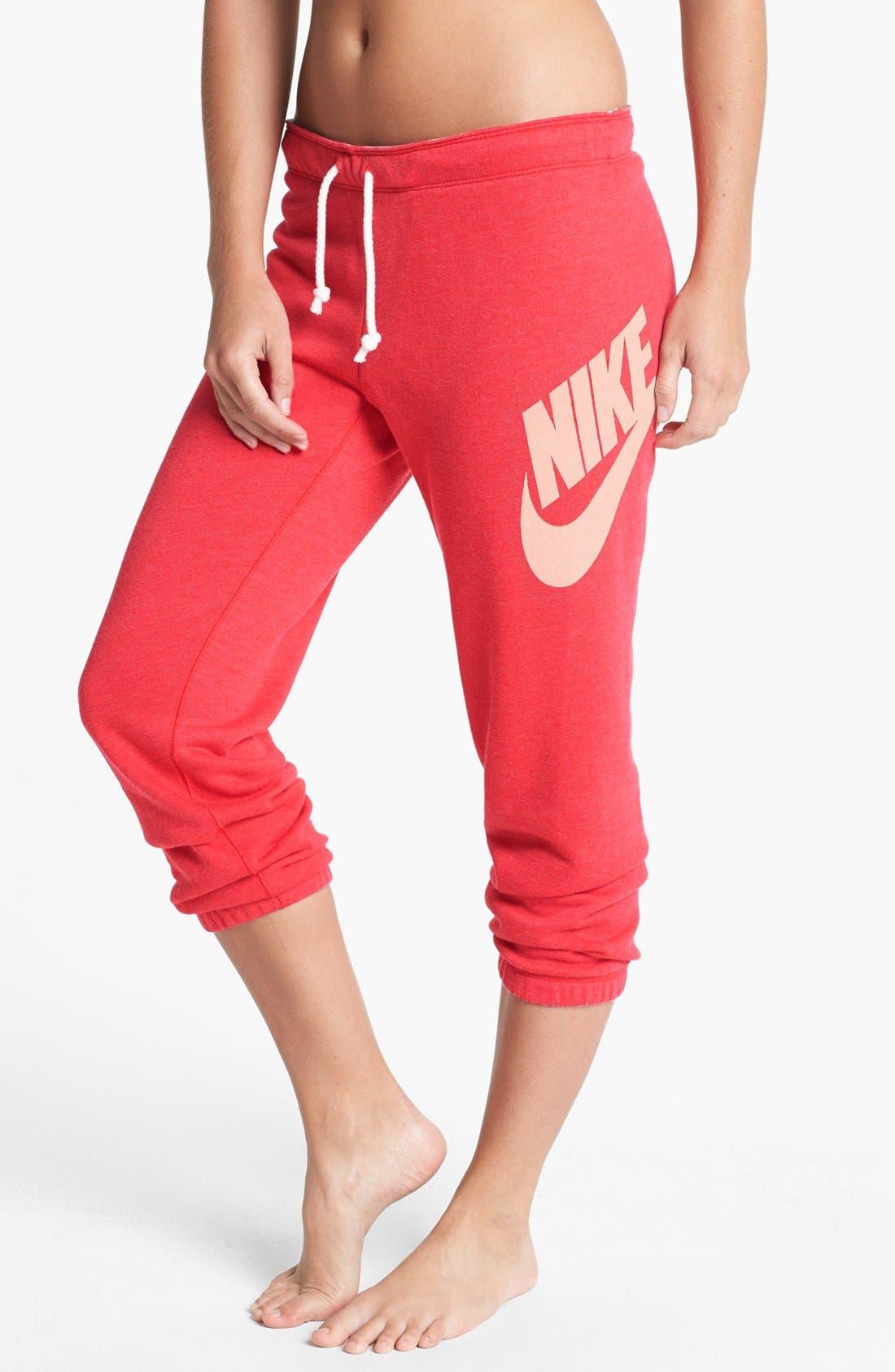 Alternate Image 1 Selected - Nike 'Rally' Capri Sweatpants