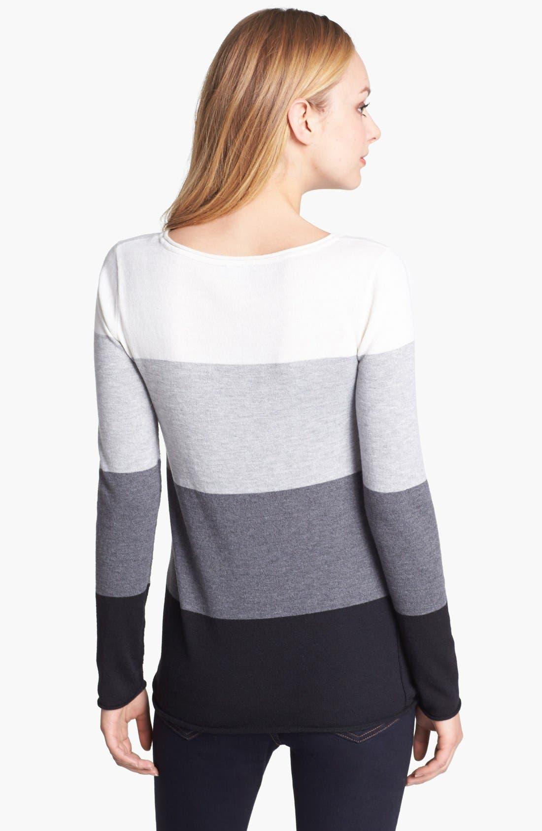 Alternate Image 2  - Vince Camuto Colorblock Stripe Sweater