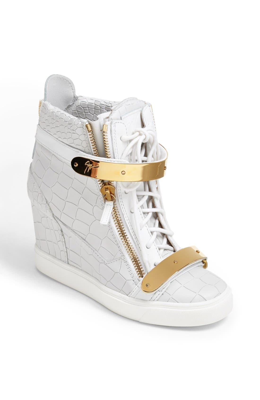 Alternate Image 1 Selected - Giuseppe Zanotti 'Lorenz' High Top Wedge Sneaker