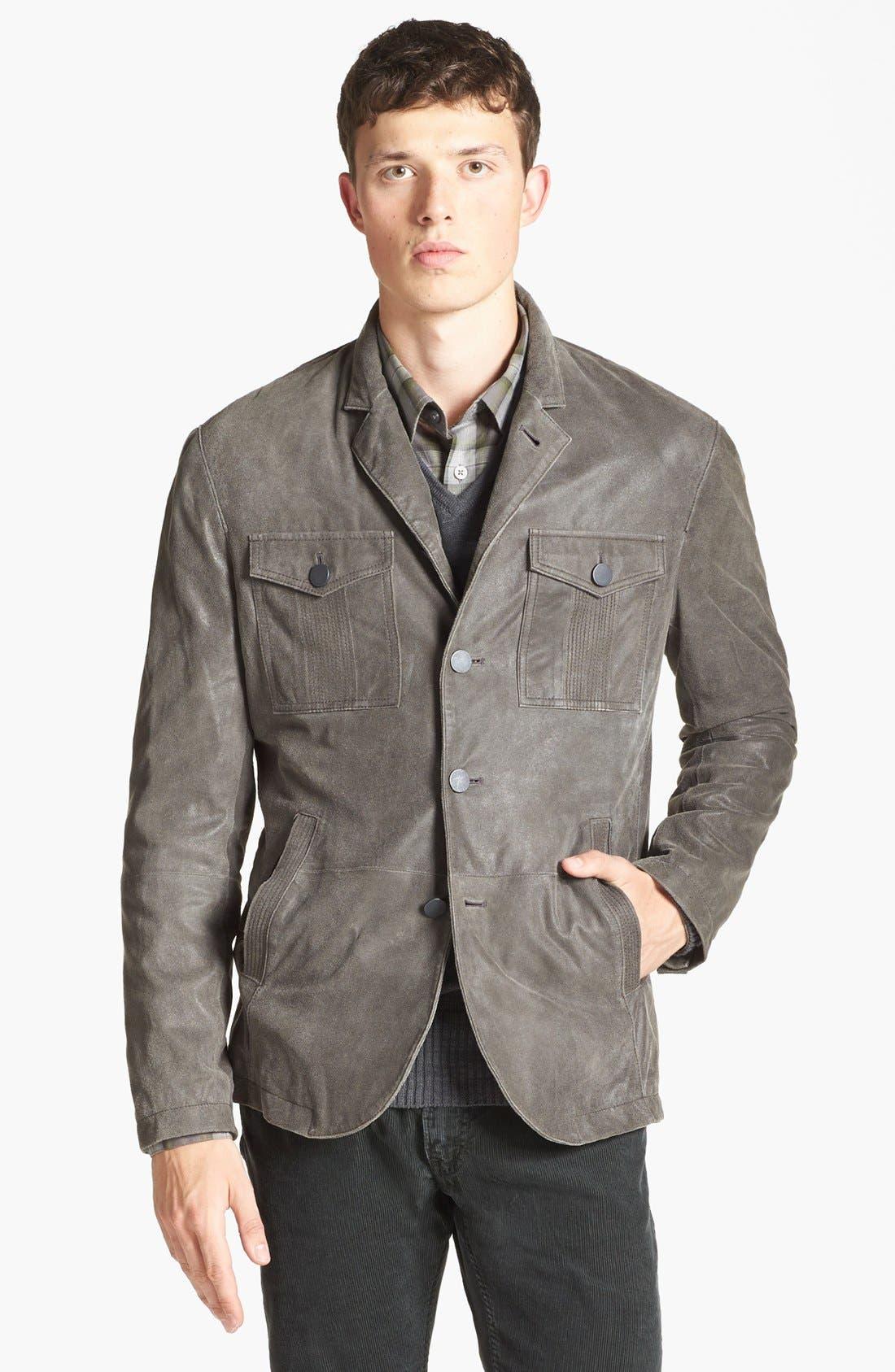 Main Image - John Varvatos Star USA Military Leather Jacket