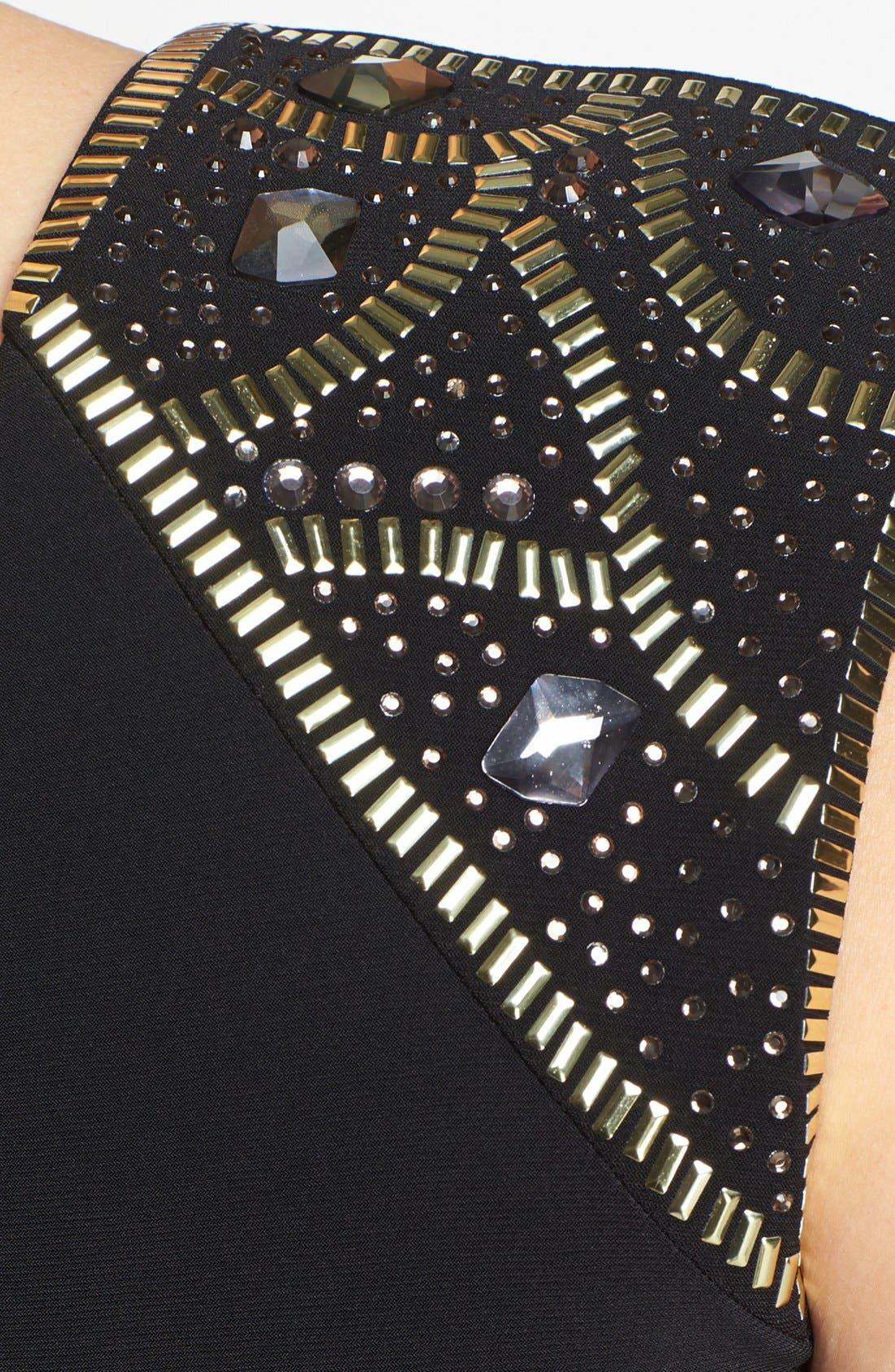 Alternate Image 3  - Xscape Embellished Side Drape Sheath Dress (Plus Size)