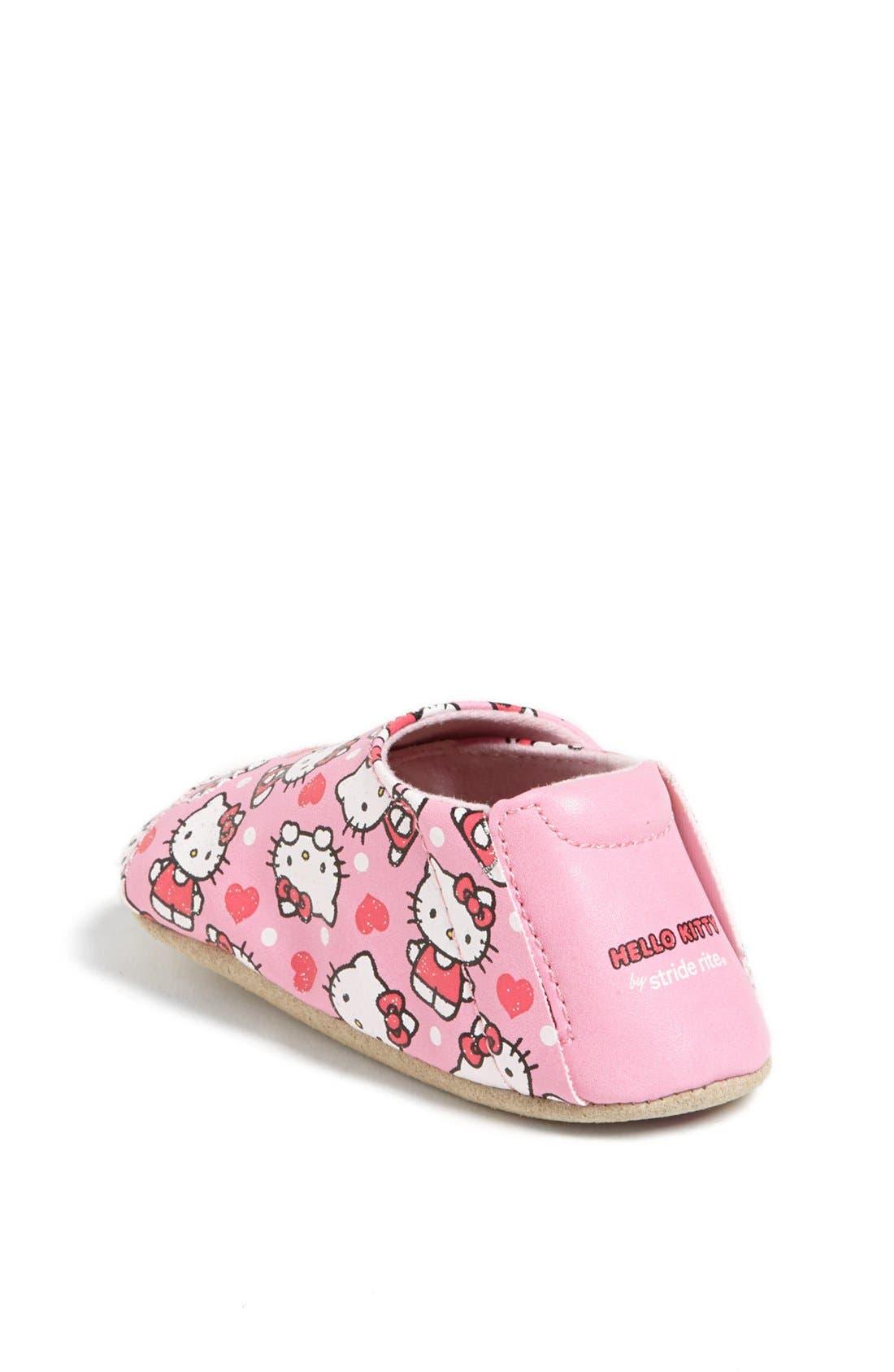 Alternate Image 2  - Stride Rite 'Hello Kitty®' Crib Shoe (Baby Girls)