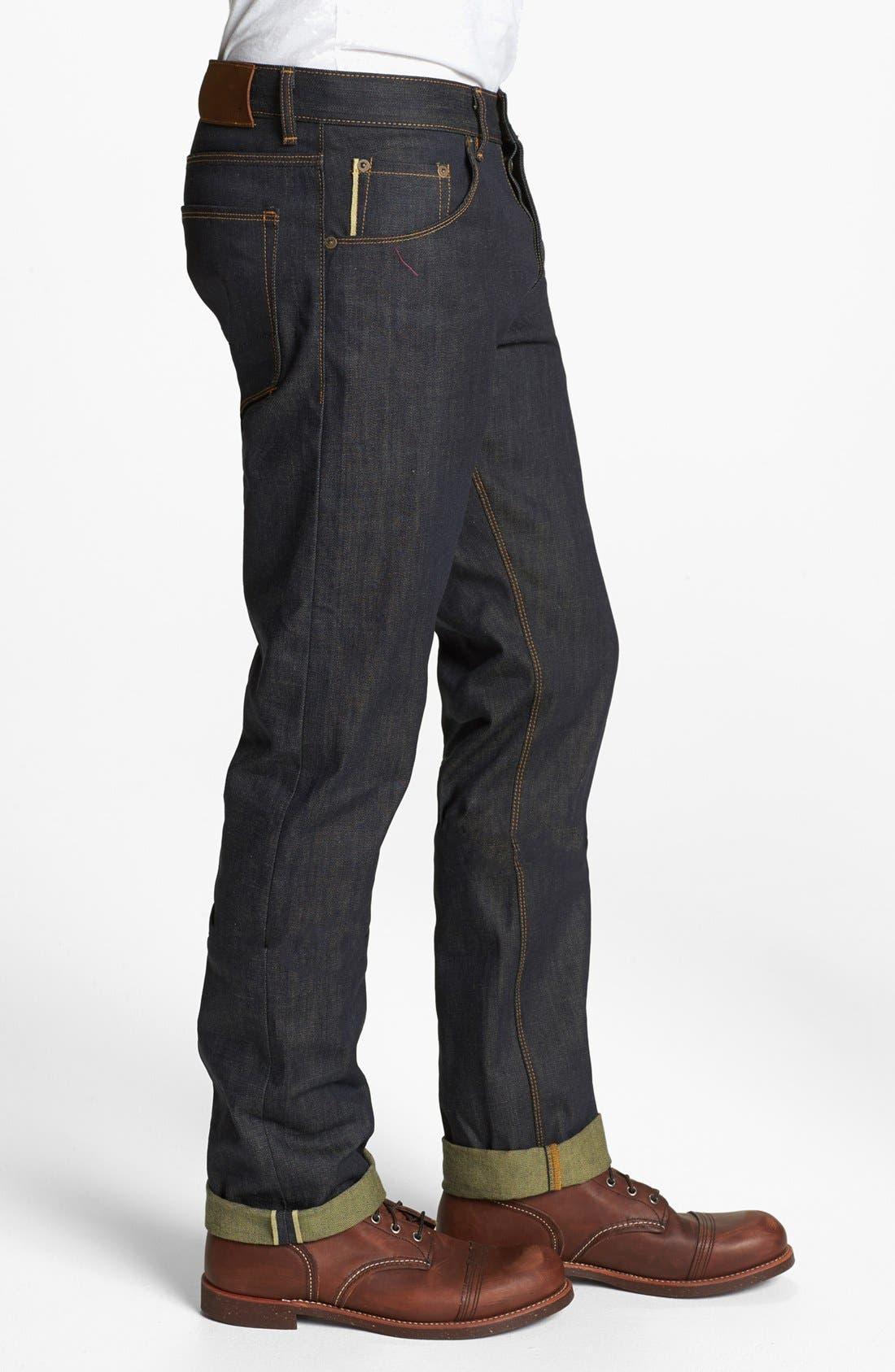Alternate Image 3  - Raleigh Denim 'Jones' Slim Fit Raw Selvedge Jeans (Original Selvage)