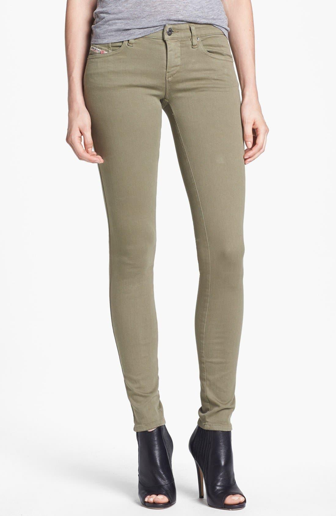 Alternate Image 1 Selected - DIESEL® 'Skinzee' Low Rise Skinny Jeans