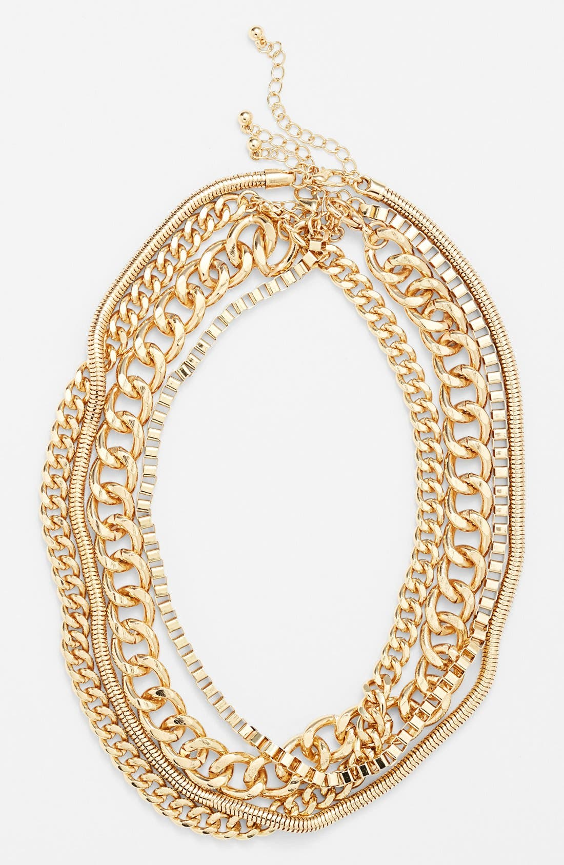 Main Image - BP. Layered Chain Collar Necklace (Juniors)