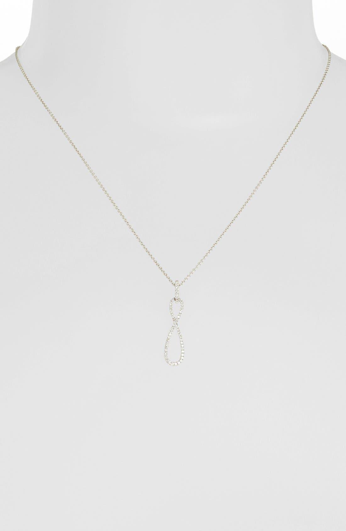 Alternate Image 2  - Bony Levy Pavé Diamond Infinity Symbol Pendant Necklace (Nordstrom Exclusive)