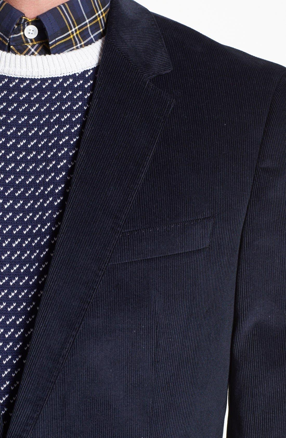 Alternate Image 2  - BOSS 'Hedge/Gense' Trim Fit Corduroy Suit
