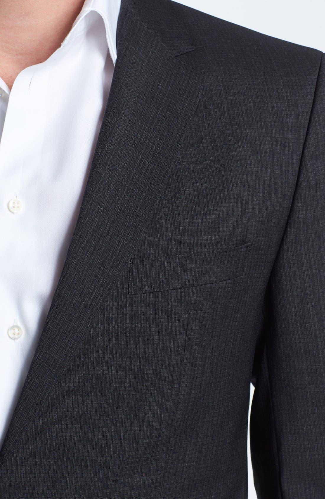 Alternate Image 2  - BOSS HUGO BOSS 'James/Sharp' Trim Fit Check Suit