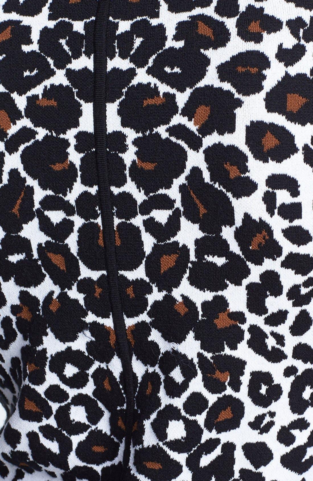 Alternate Image 3  - A.L.C. 'Smith' Long Sleeve Leopard Pattern Knit Dress