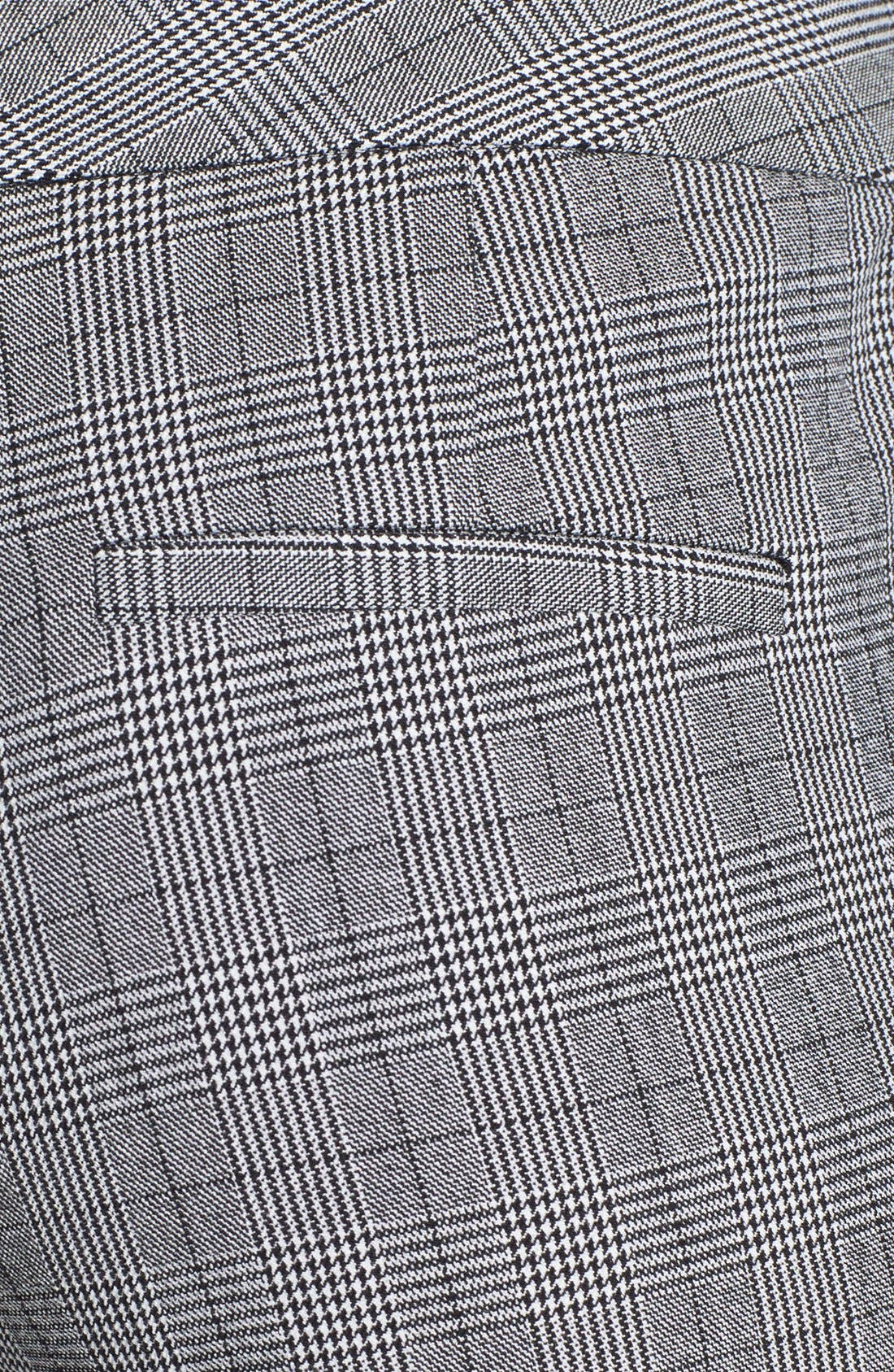 Alternate Image 3  - Vince Camuto Faux Leather Stripe Glen Plaid Trousers (Online Exclusive)