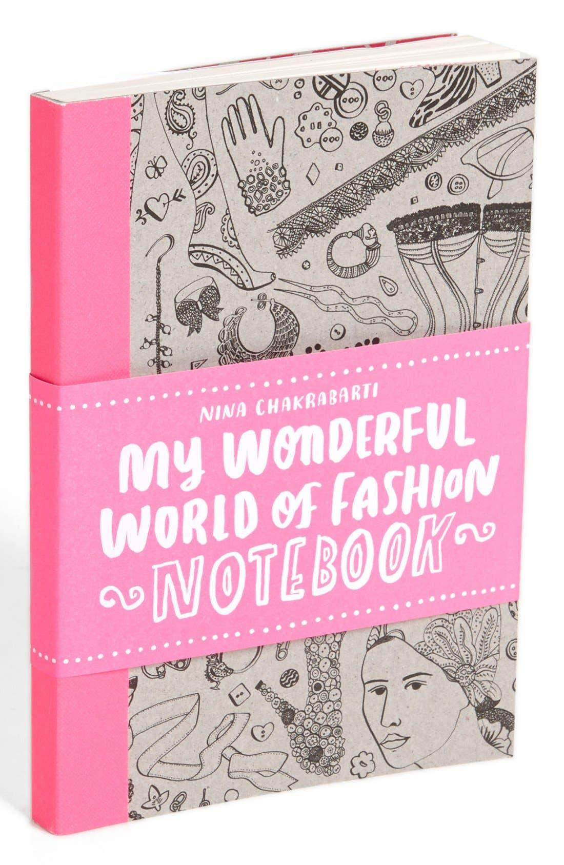 Main Image - Nina Chakrabarti 'My Wonderful World of Fashion' Notebook (Girls)