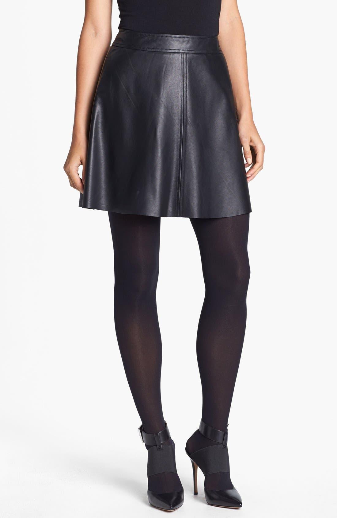 Alternate Image 1 Selected - Trina Turk 'Lanni' Leather Flare Skirt