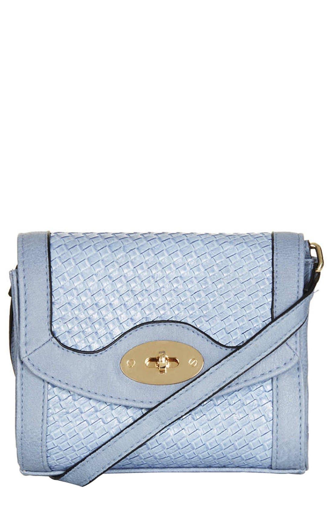 Main Image - Topshop Embossed Mini Crossbody Bag
