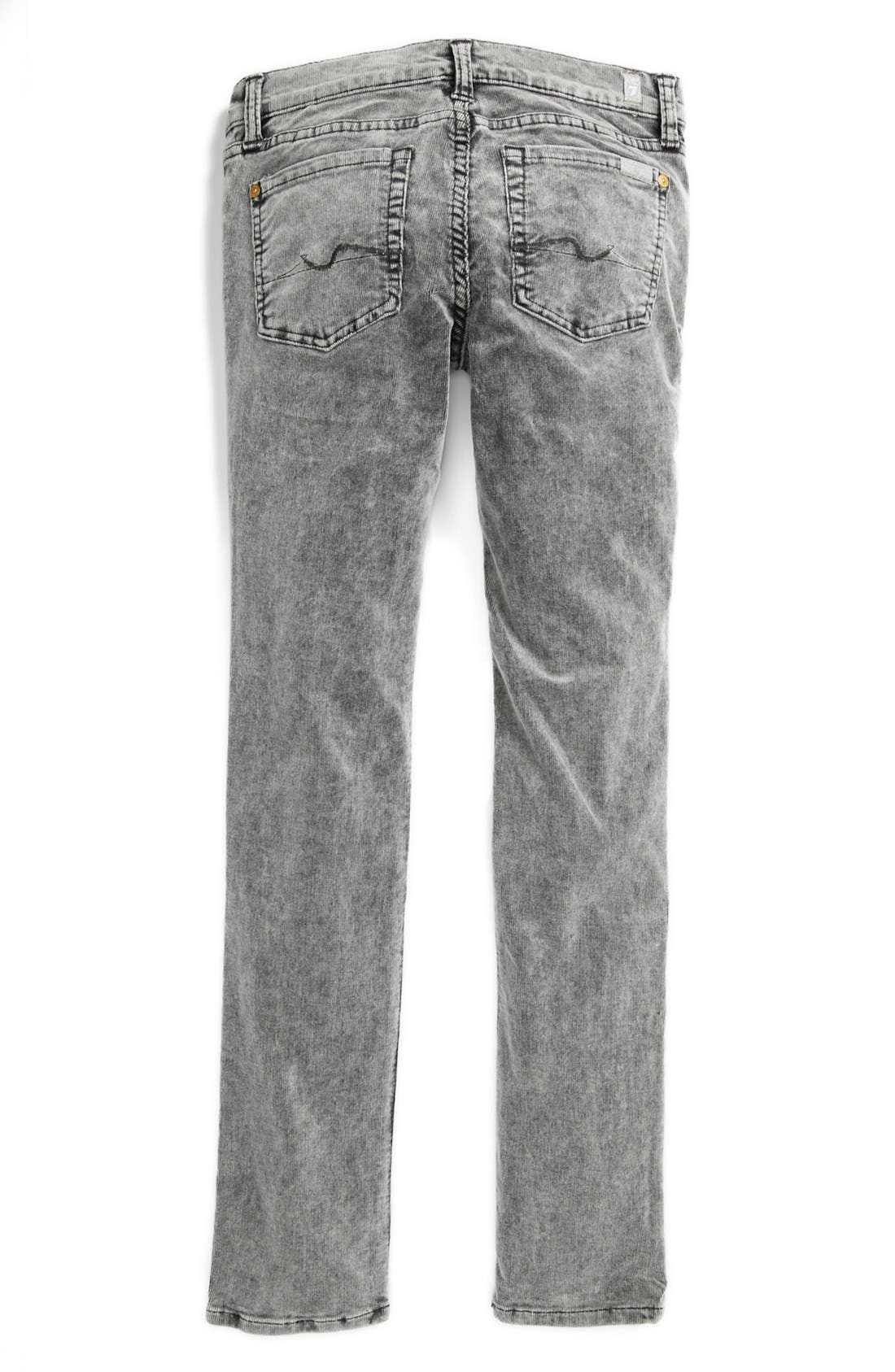Alternate Image 1 Selected - 7 For All Mankind 'Roxanne' Skinny Corduroys (Big Girls)