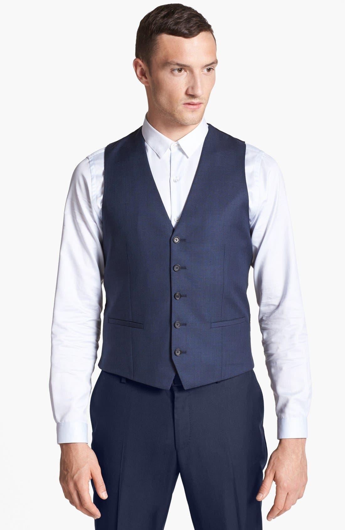 Alternate Image 1 Selected - The Kooples Navy Wool Vest