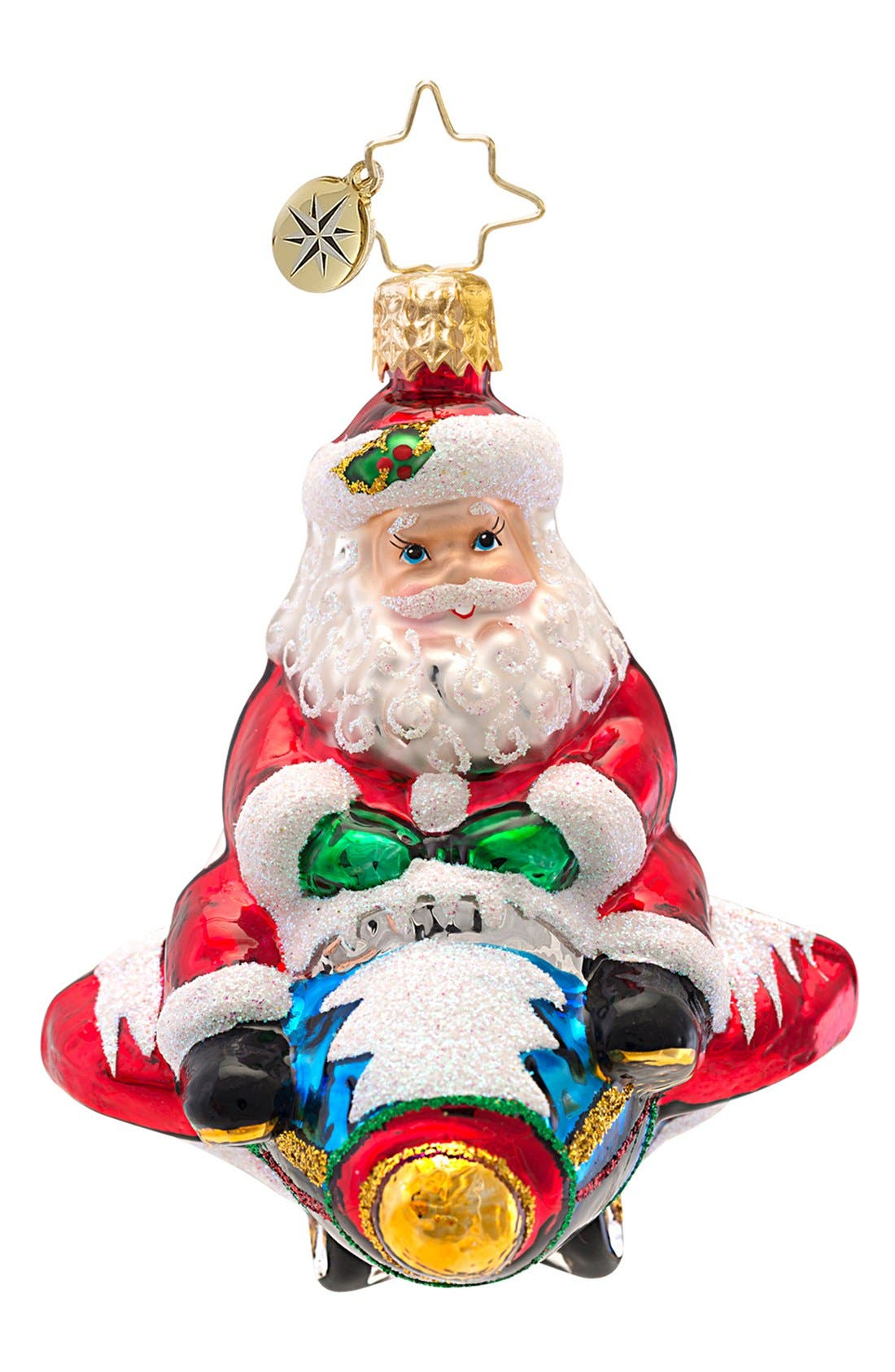 Main Image - Christopher Radko 'Jet Set Santa - Little Gem' Ornament