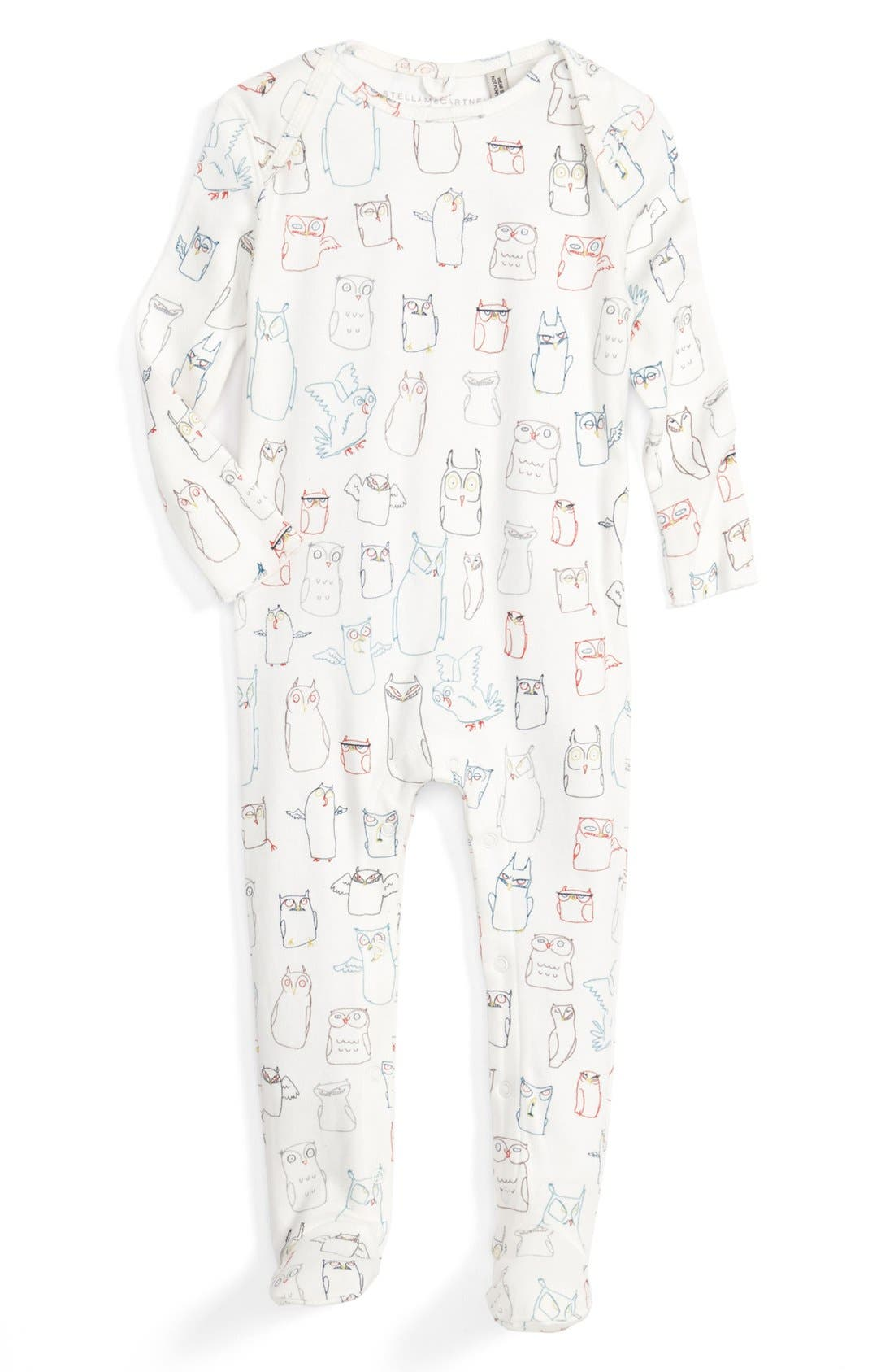 Main Image - Stella McCartney Kids 'Rufus' Organic Cotton One-Piece (Baby)