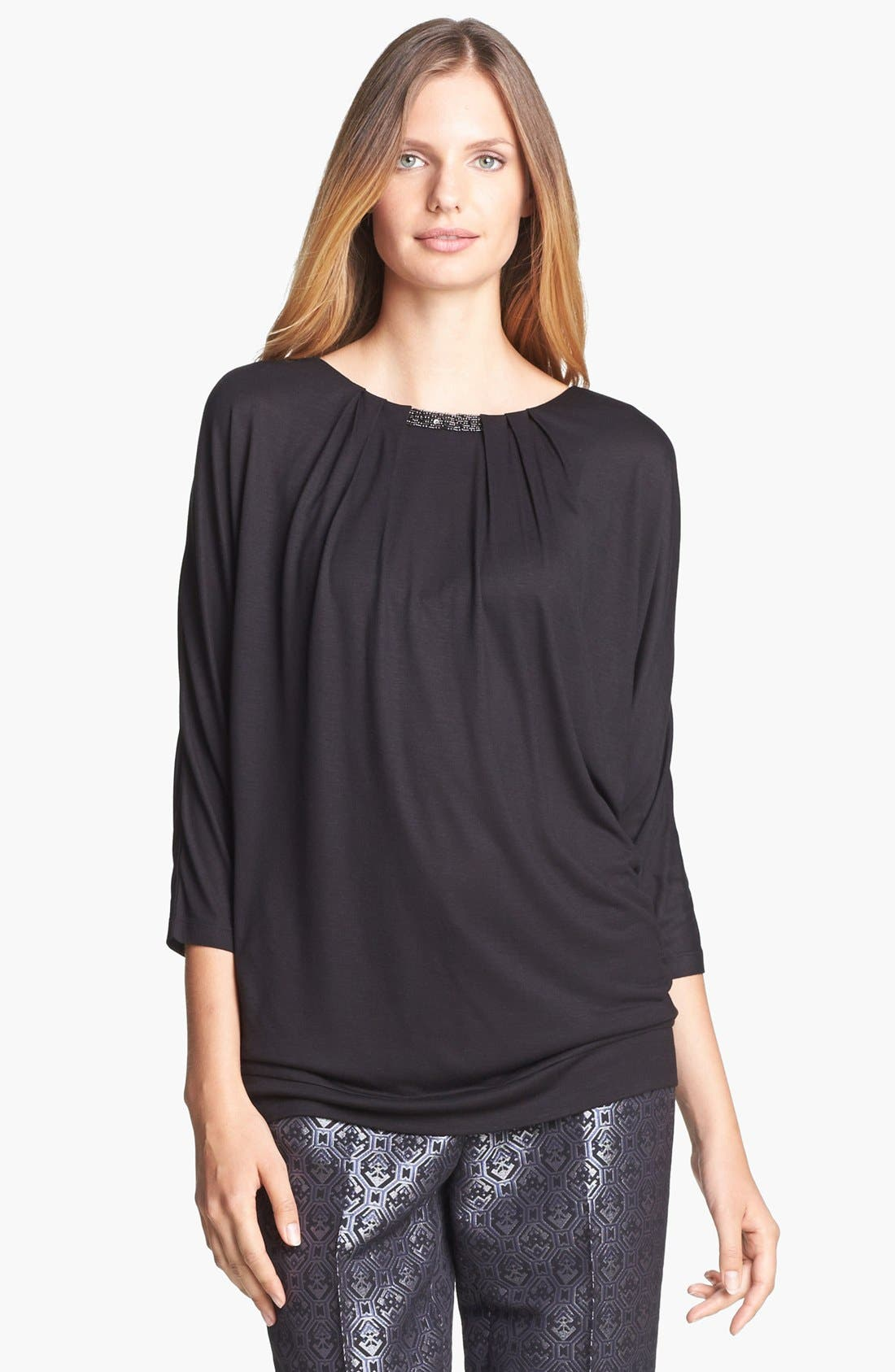 Alternate Image 1 Selected - Classiques Entier® Embellished Jersey Knit Top
