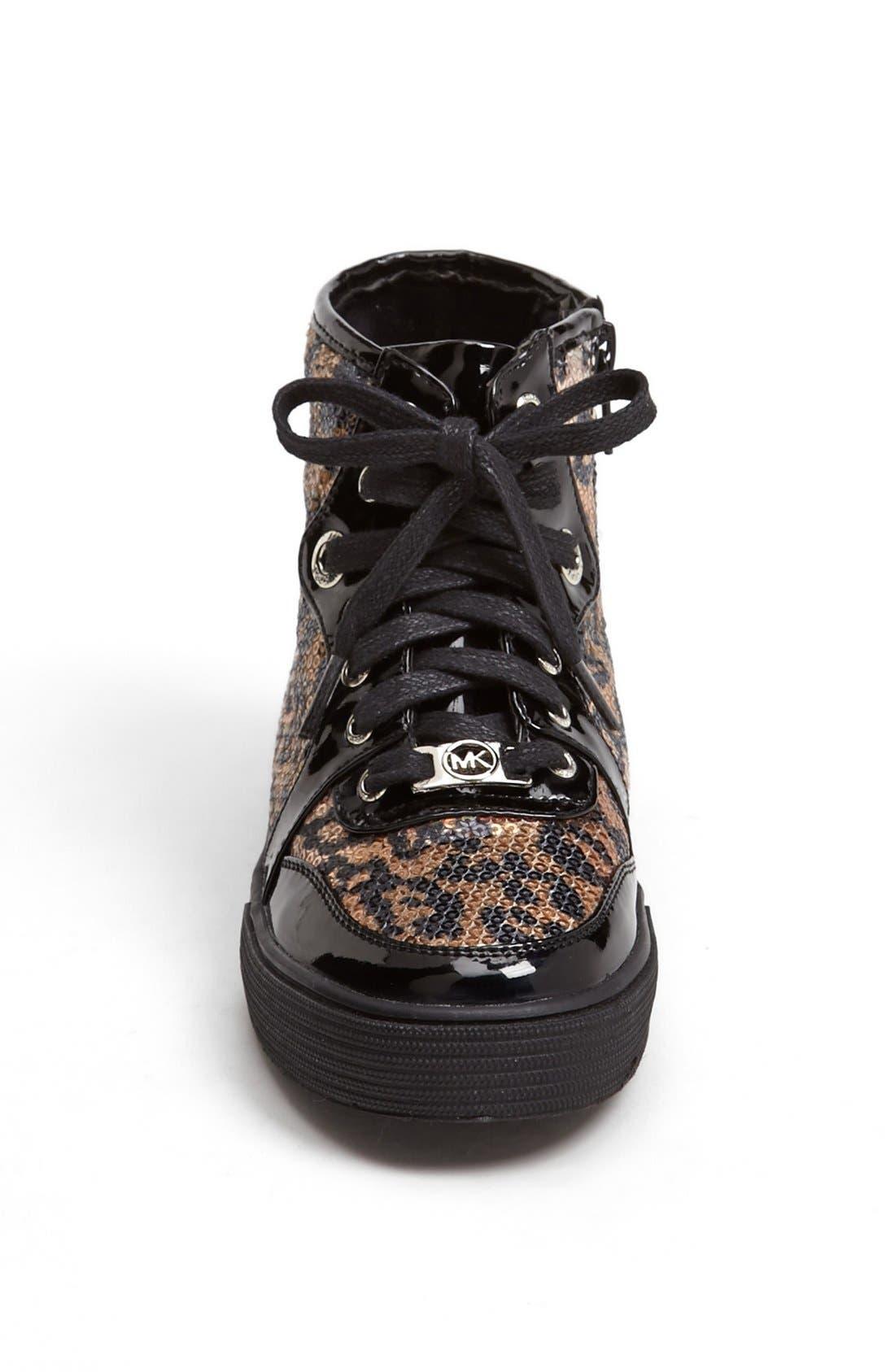 Alternate Image 3  - MICHAEL Michael Kors 'Ivy' High Top Sneaker (Walker, Toddler, Little Kid & Big Kid)
