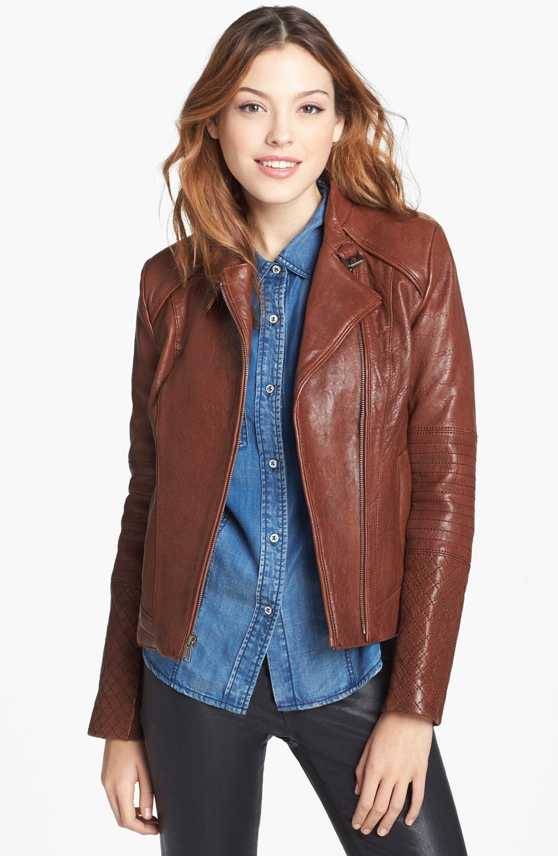 Alternate Image 4  - Andrew Marc 'Shay' Hooded Insert Leather Jacket
