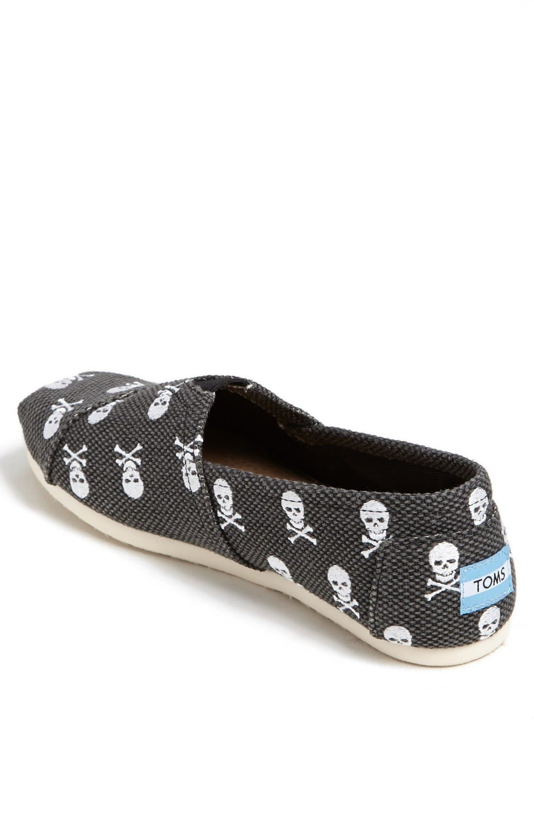 Alternate Image 2  - TOMS Embroidered Skull Slip-On   (Men)