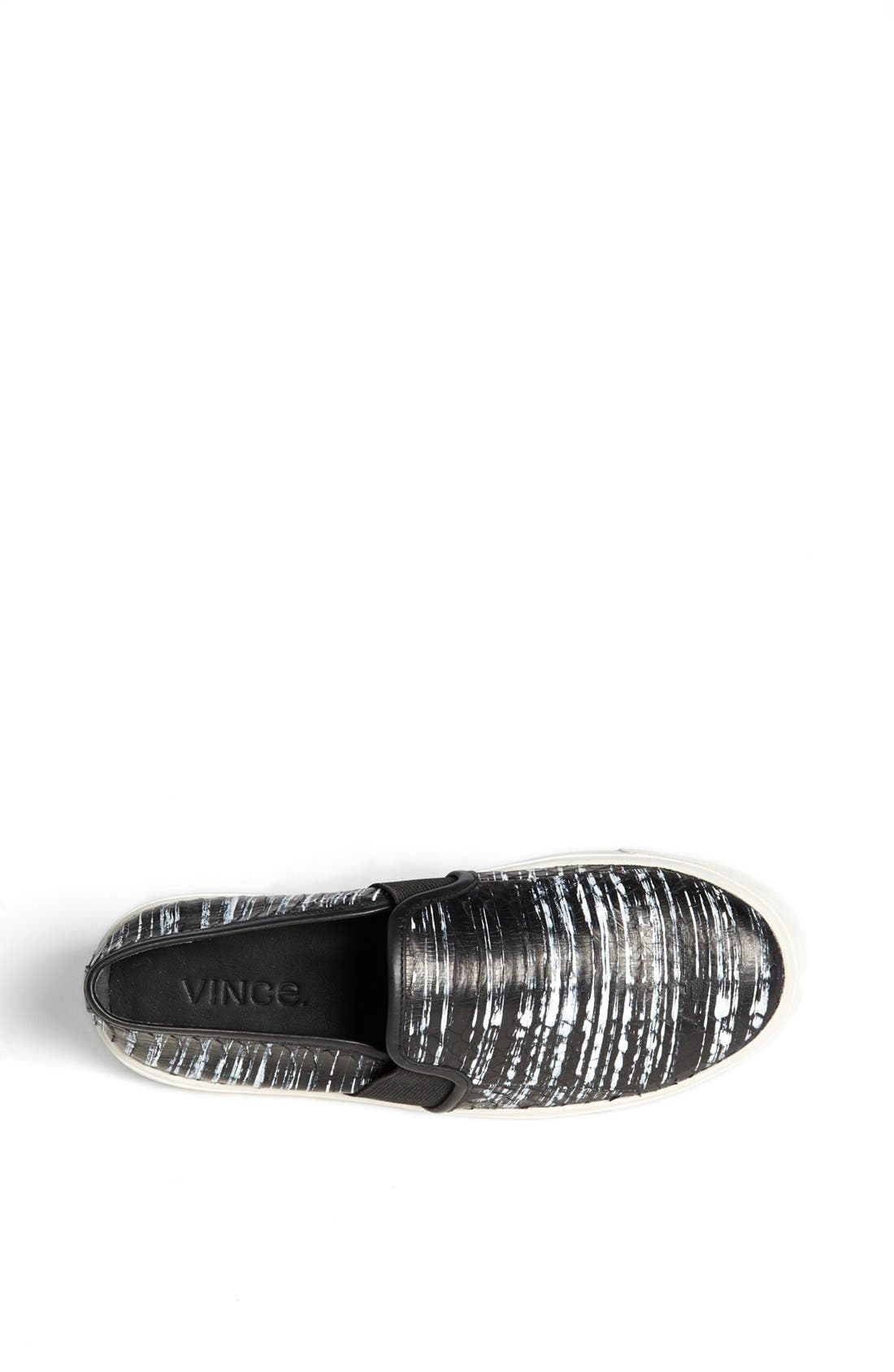 Alternate Image 4  - Vince 'Blair 7' Snakeskin Slip-On Sneaker