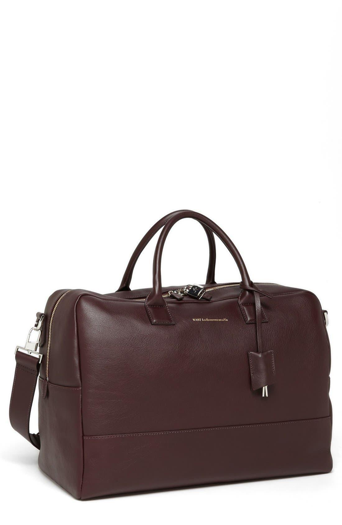 Alternate Image 1 Selected - WANT Les Essentiels de la Vie 'Douglas' Leather Carryall Bag