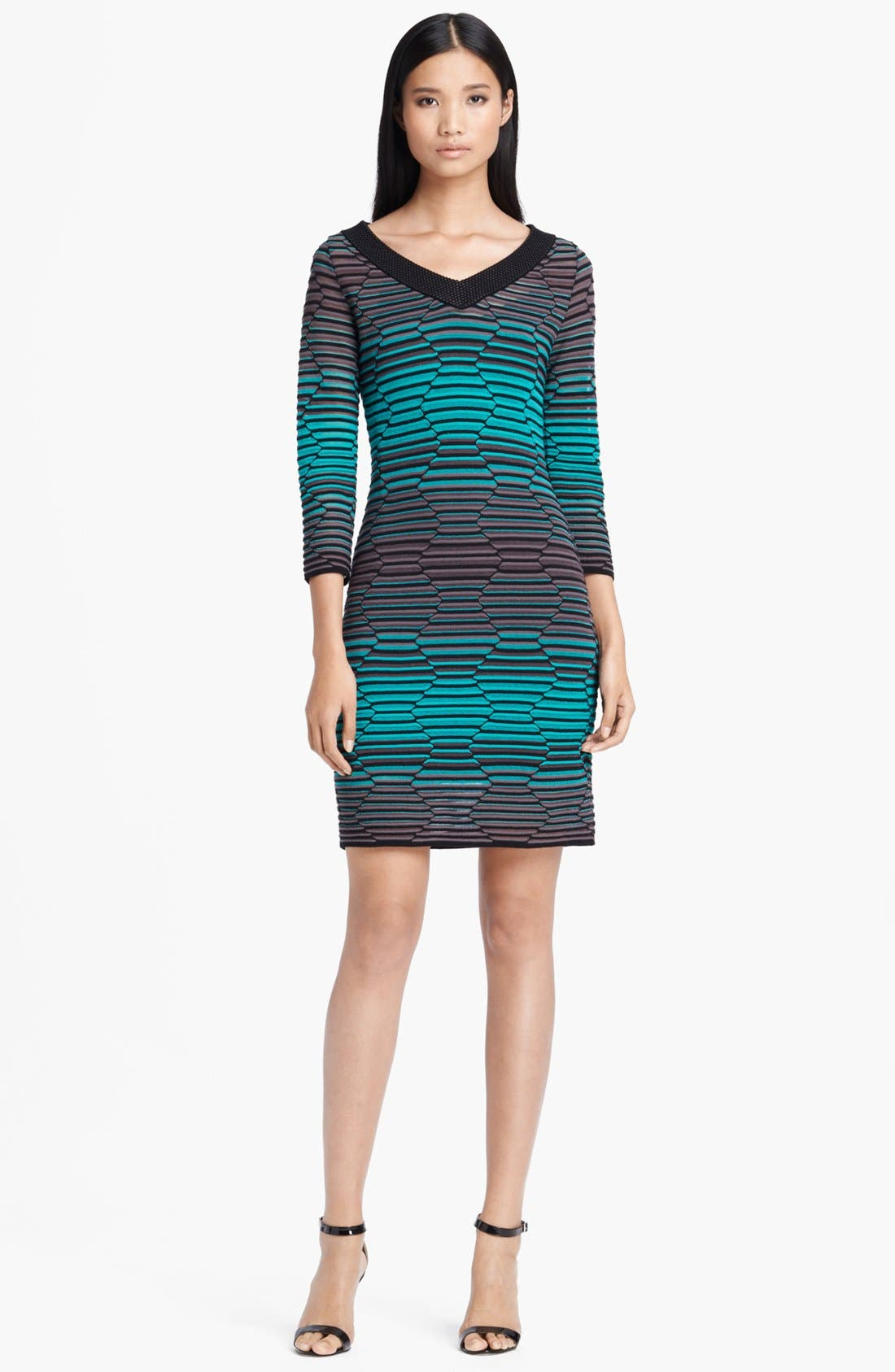 Main Image - M Missoni Hexagon Stripe Knit Dress