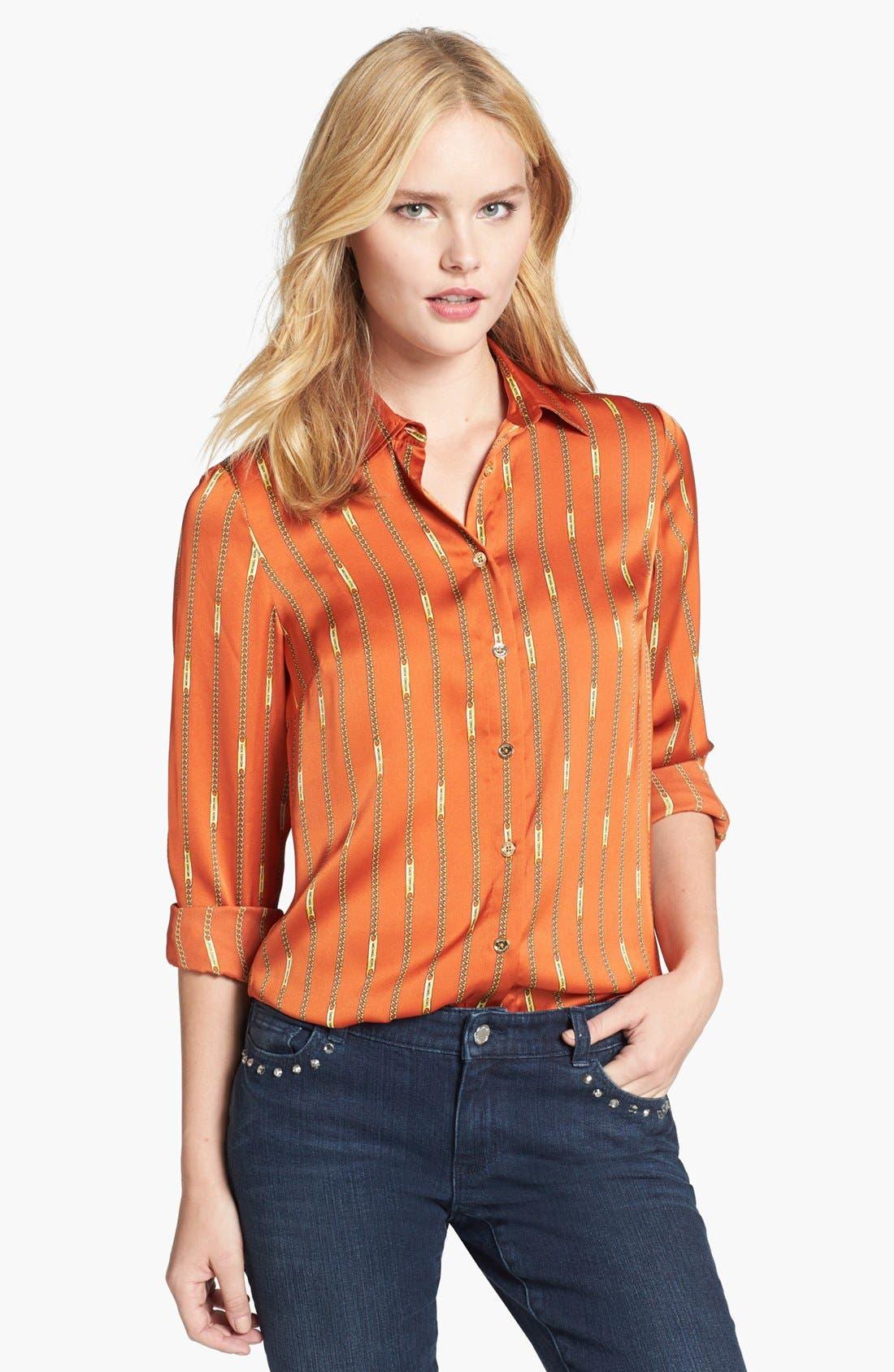 Main Image - MICHAEL Michael Kors Print Fitted Shirt (Regular & Petite)