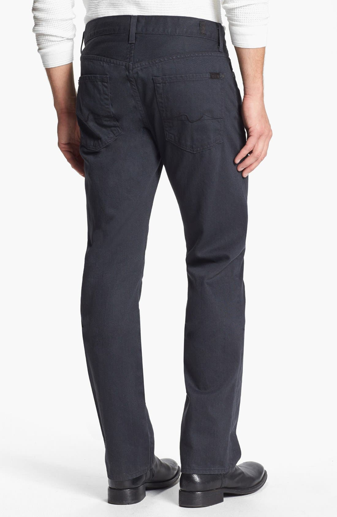 Alternate Image 1 Selected - 7 For All Mankind® 'Standard' Straight Leg Jeans (Agate Grey)